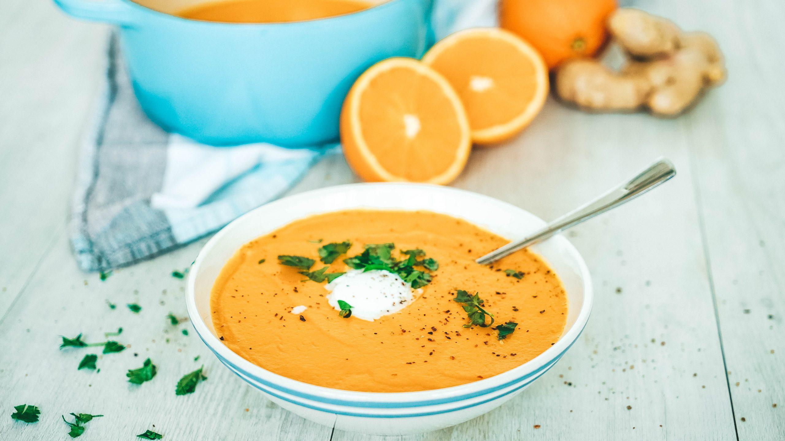 Orangen-Karotten-Suppe Mit Ingwer innen Karotten Orangen Ingwer Suppe Rezept