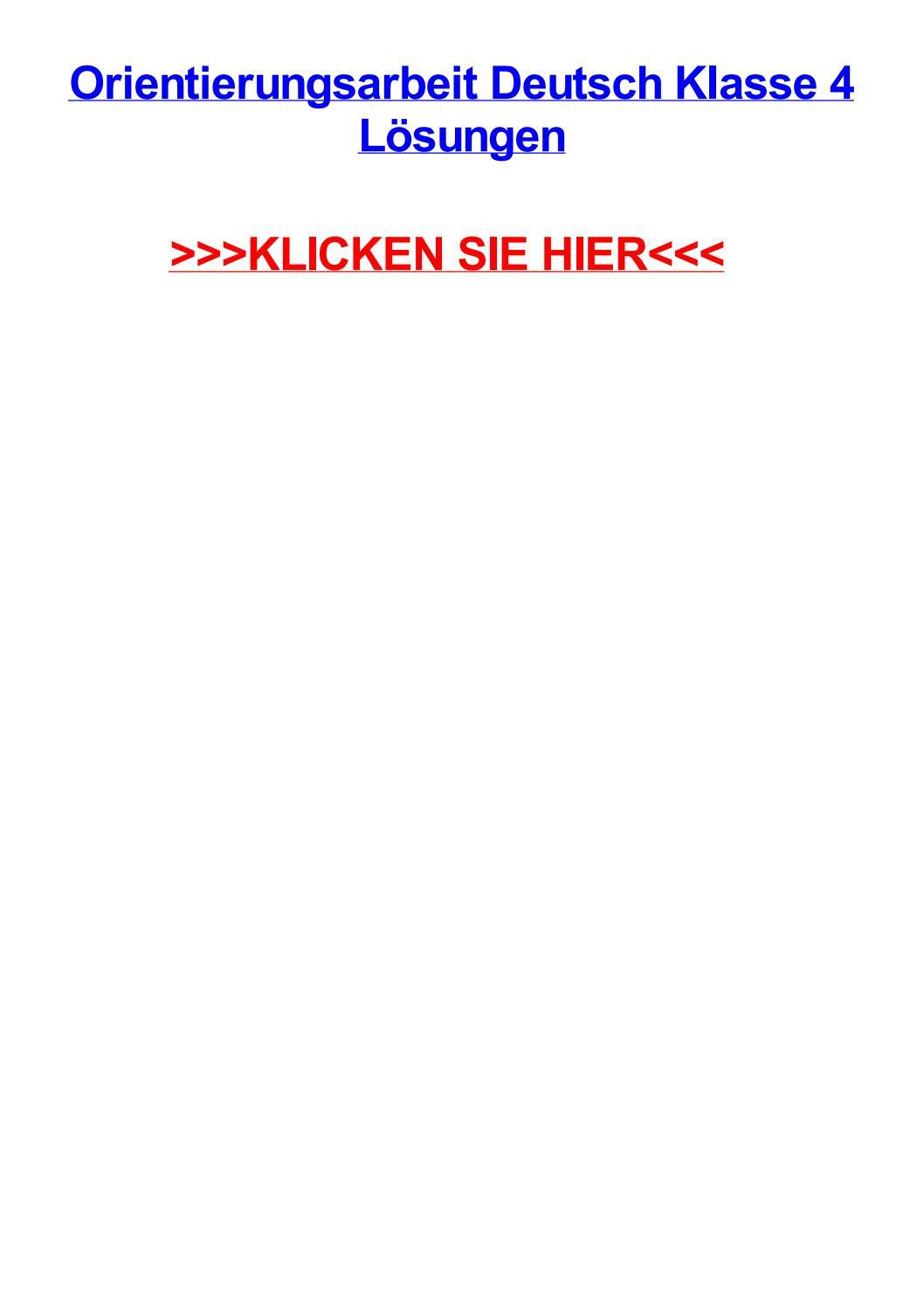 Orientierungsarbeit Deutsch Klasse 4 Lsungen By verwandt mit Orientierungsarbeiten 2 Klasse Bayern