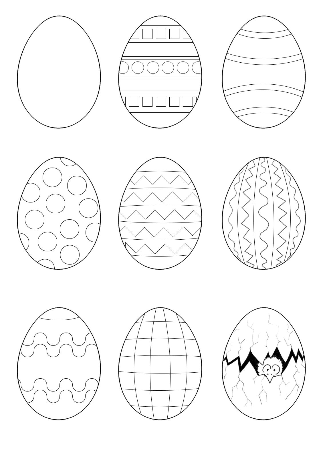 Osterei Malvorlagen | Ostern Zeichnung, Osterei Ausmalbild verwandt mit Ostereier Ausmalbilder