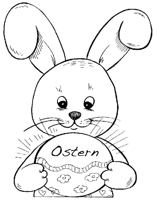 Osterhase Ausmalen | Ausmalbilder, Malbuch Vorlagen bei Osterhase Malvorlage