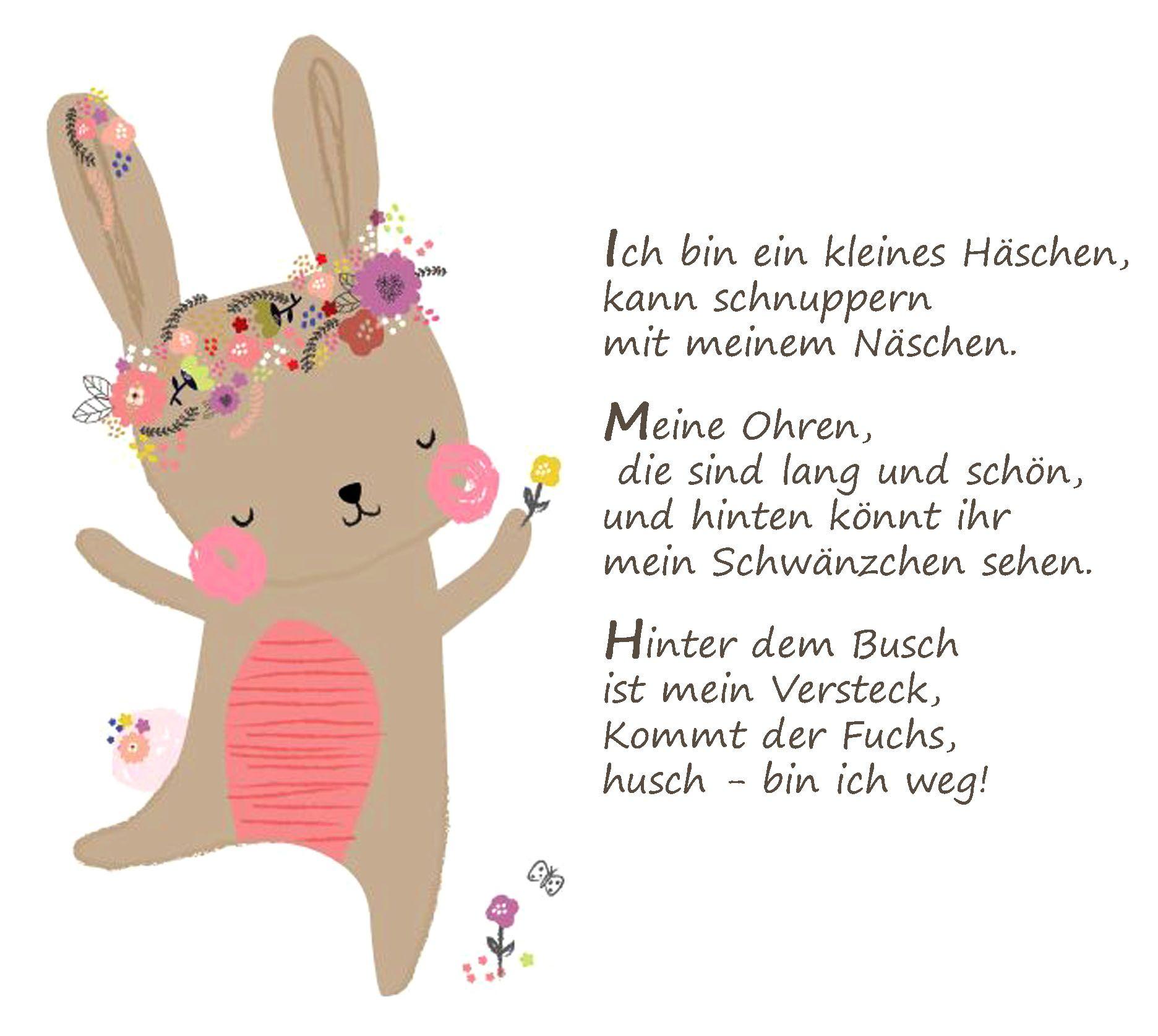 Osterhase Ostern Gedicht Kindergarten Erzieherin Kita Kinder mit Ostergedichte Für Kindergartenkinder
