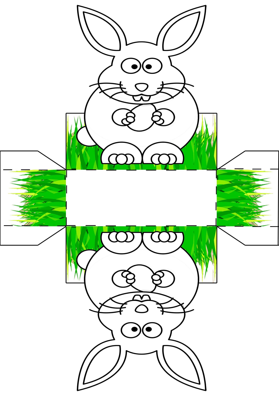 Osterkörbchen Vorlage Malen & Basteln 🐰 (Mit Bildern ganzes Osterhasen Vorlagen Zum Ausschneiden
