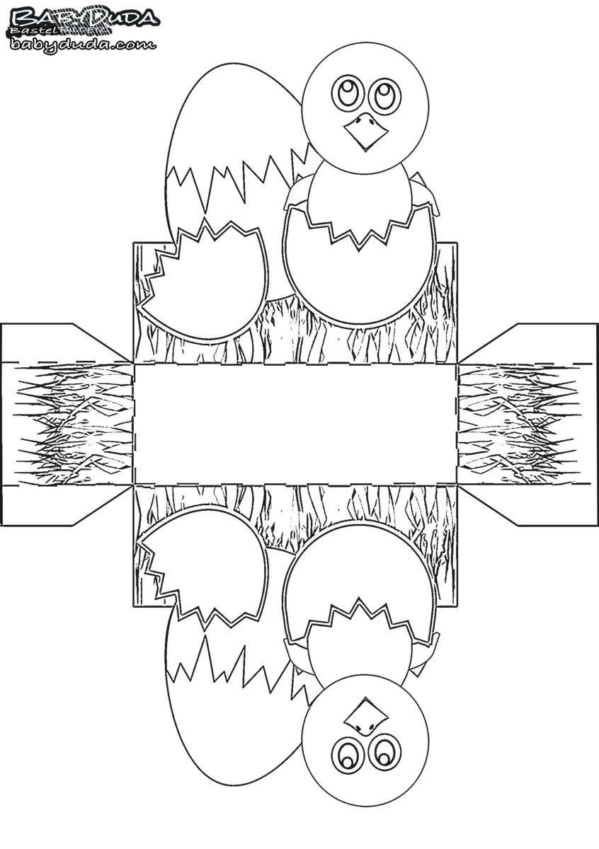Osterkörbchen Vorlage Malen & Basteln 🐰 (Mit Bildern innen Oster Bastelvorlagen Zum Ausdrucken