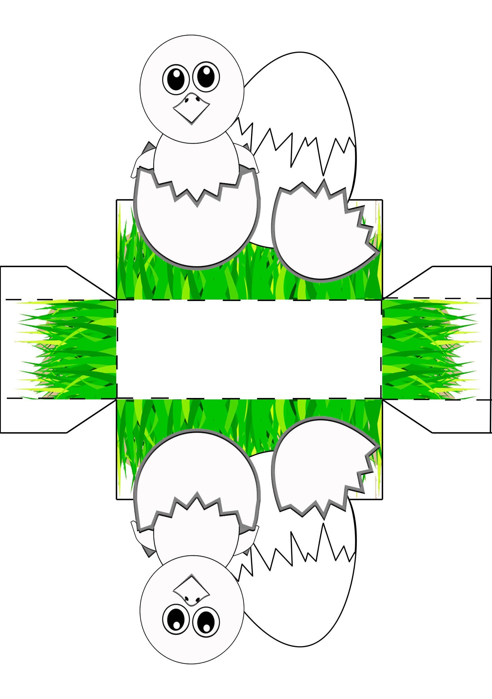 Osterkörbchen Vorlage Malen & Basteln 🐰 (Mit Bildern mit Ostern Basteln Vorlagen Kostenlos