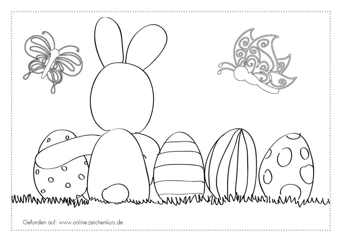 Ostern Ausmalbilder Für Kinder Und Erwachene Kostenlos über Ausmalbilder Osterhasen