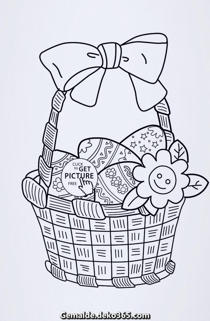 Ostern Malkorb Für Jedes Kinder, Kostenlose Malvorlagen Zum für Kostenlose Malvorlagen Kinder