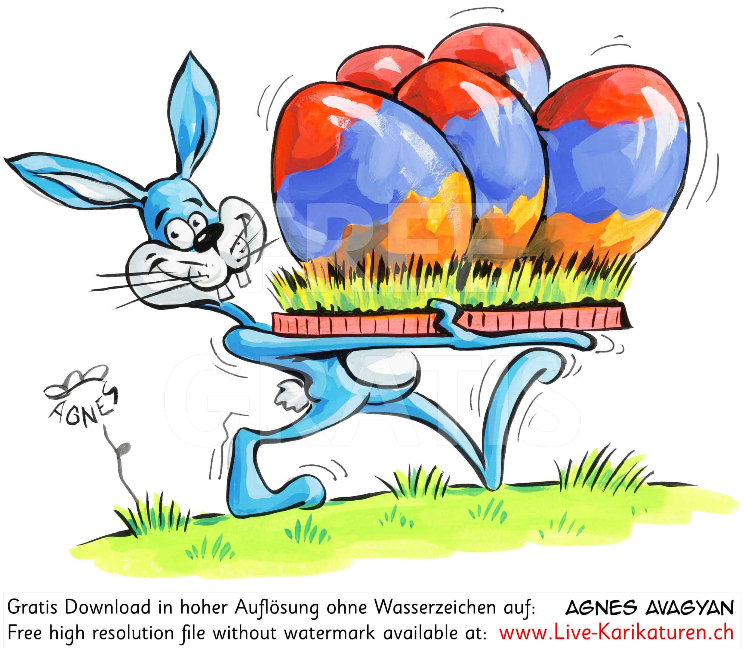 Ostern Osterhase Armenisches Osternest — Agnes Live über Osterhase Comic