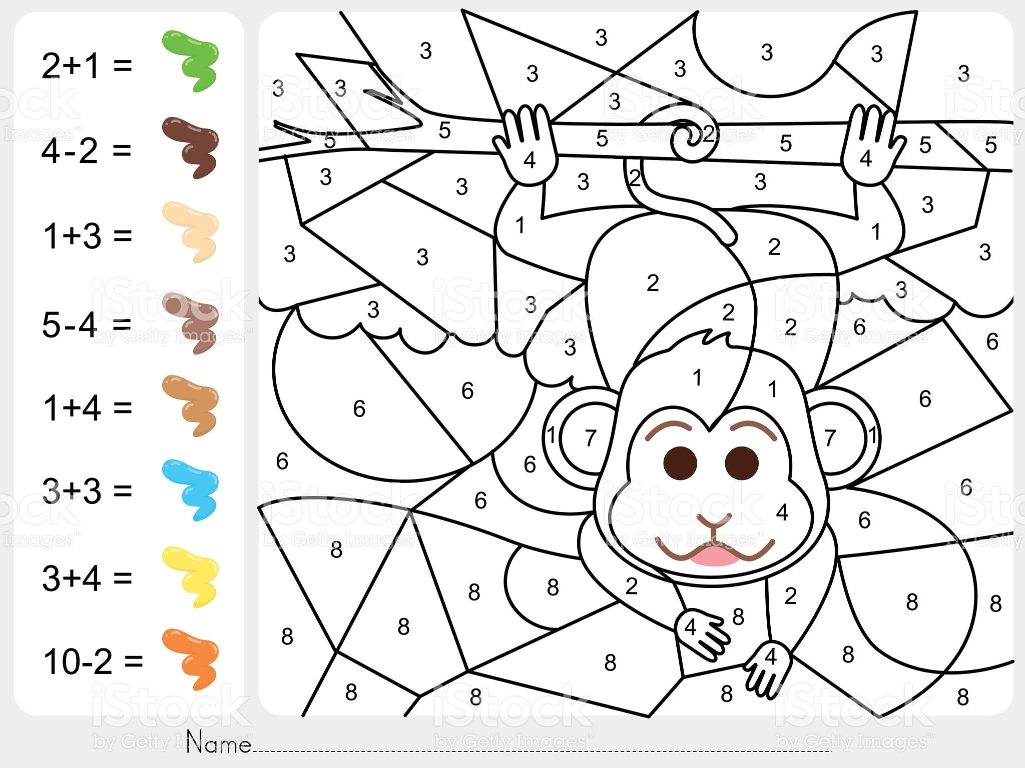Paint Color By Numbers - Worksheet For Education (Mit bei Malen Nach Zahlen Download