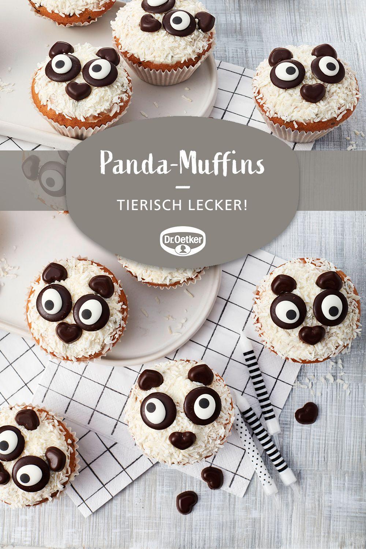 Panda-Muffins   Rezept   Kindergeburtstag Kuchen Ideen mit Lustige Muffins Für Kindergeburtstag
