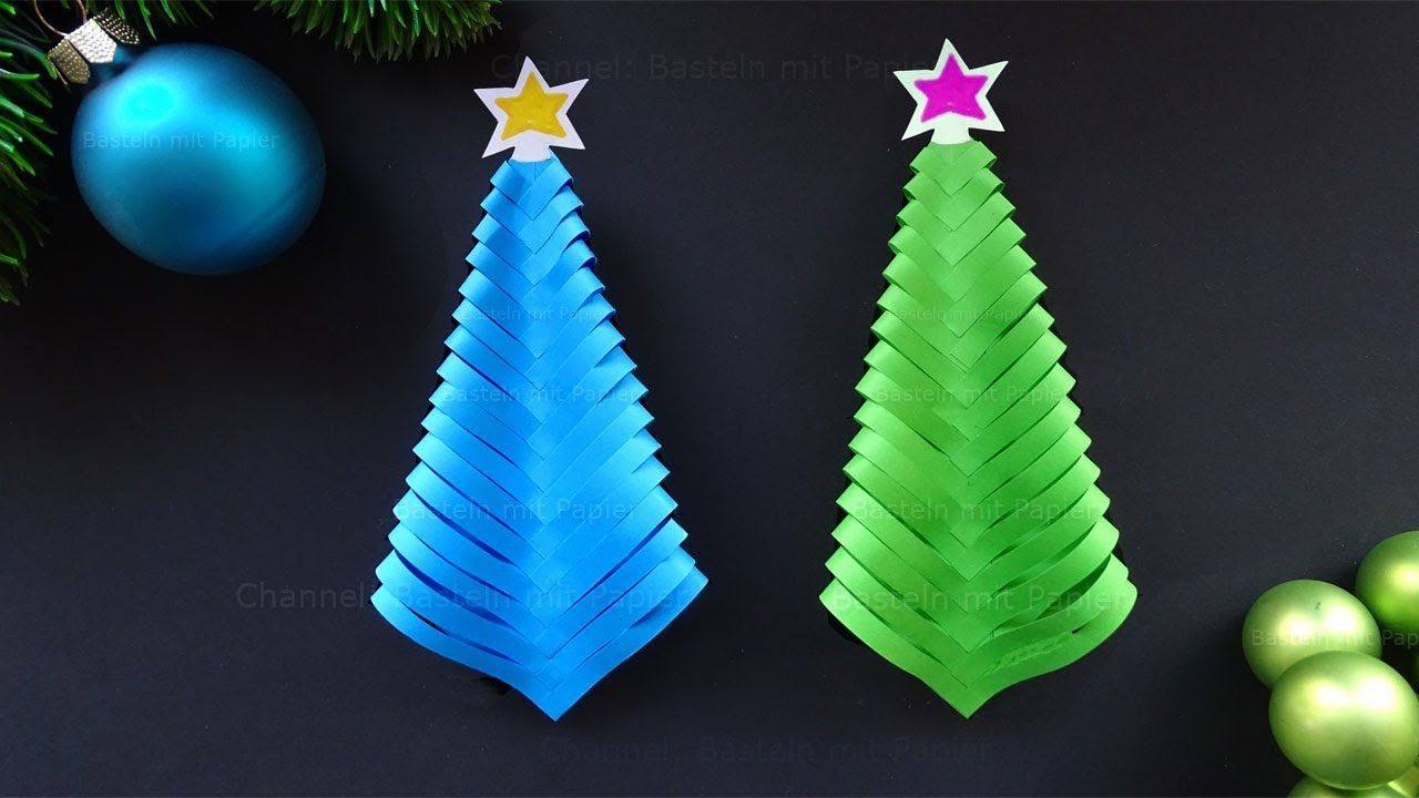 Paper Christmas Tree 🎄 Diy Christmas Decorations in Bastelideen Für Weihnachten Kostenlos