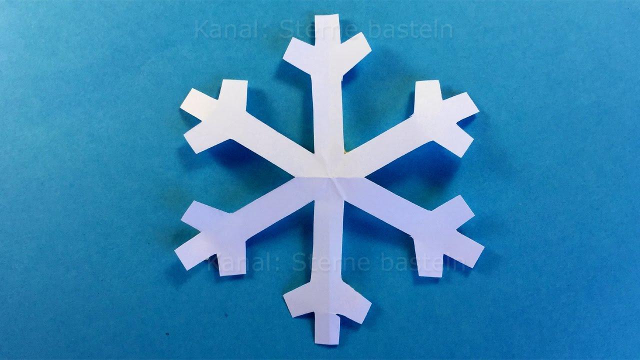 Paper Snowflake - Easy Tutorial - How To Make A Paper Snowflake - Diy verwandt mit Schneesterne Schneiden