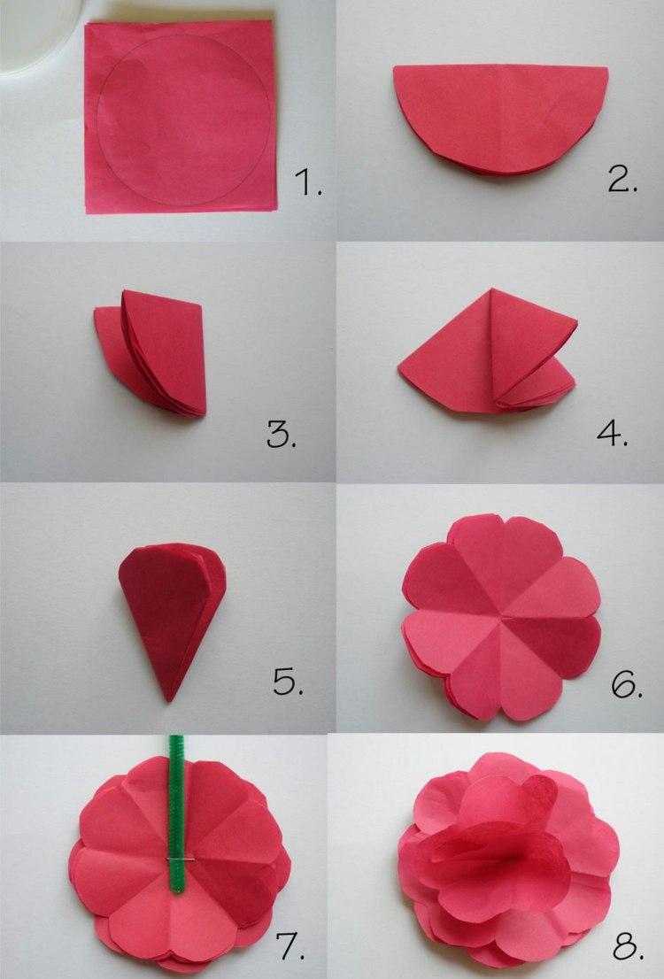 Papierblumen Basteln Mit Kindern - Schöne Ideen Und verwandt mit Basteln Mit Papier Für Kleinkinder