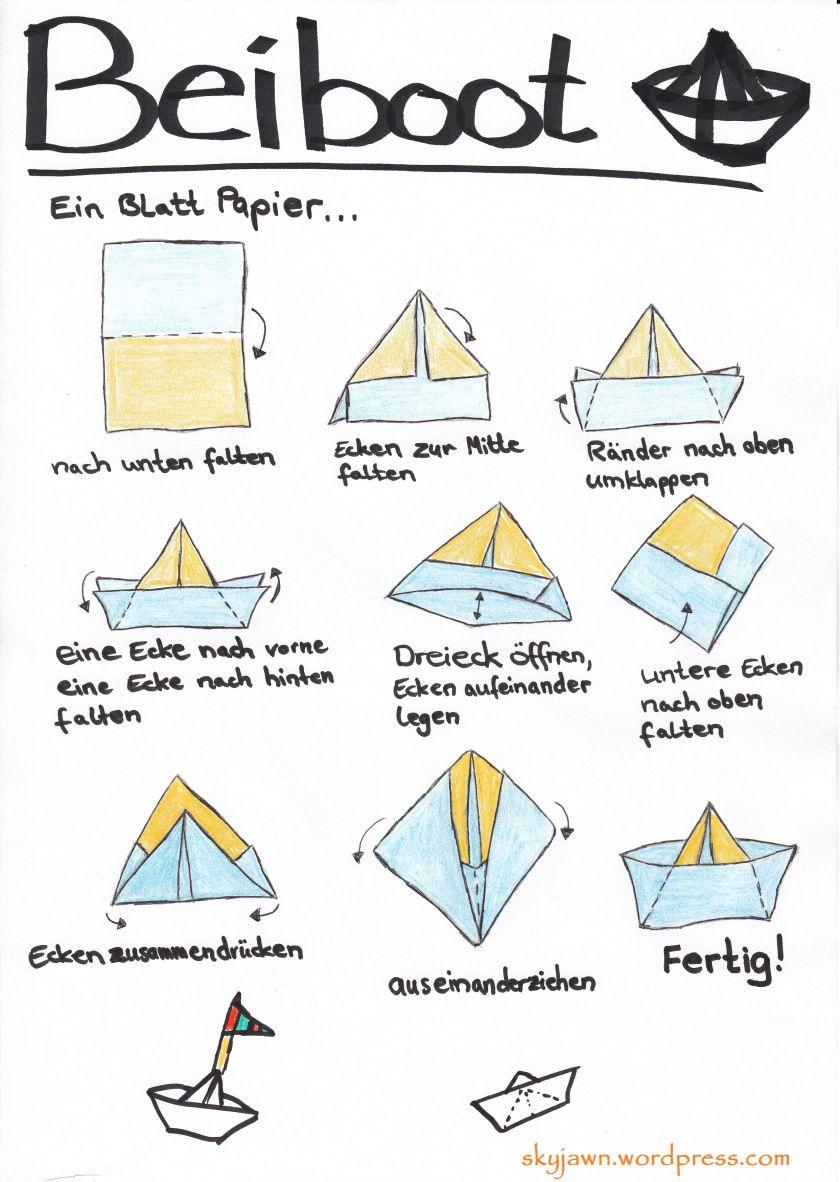 Papierboot Falten #papier #boot #falten #origami #anleitung ganzes Boot Bauen Mit Kindern