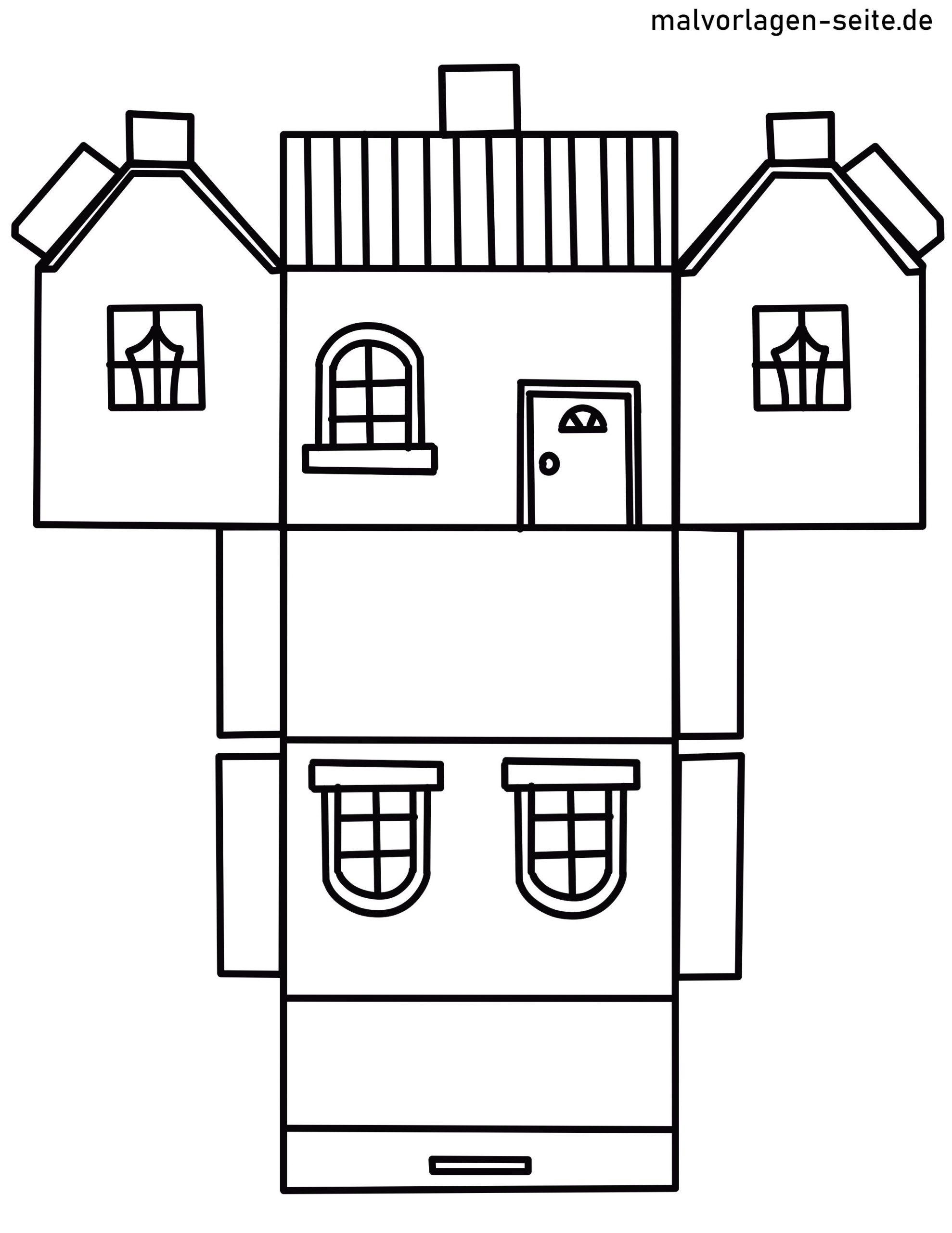 papierhaus basteln  kinderbilderdownload  kinderbilder