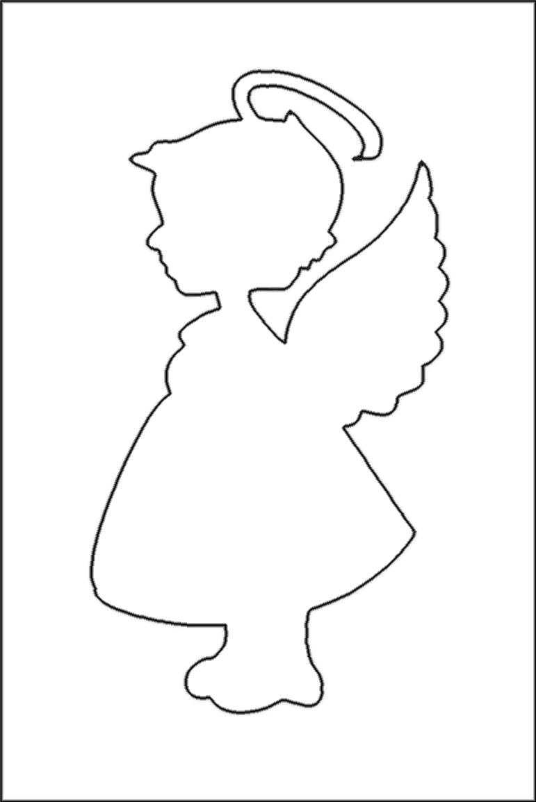 Papierschablone Bio Glitzertattoo Engel bei Schablone Für Engel
