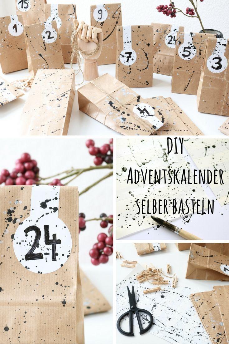 Papiertüten Adventskalender | Adventskalender mit Adventskalender Selber Gestalten