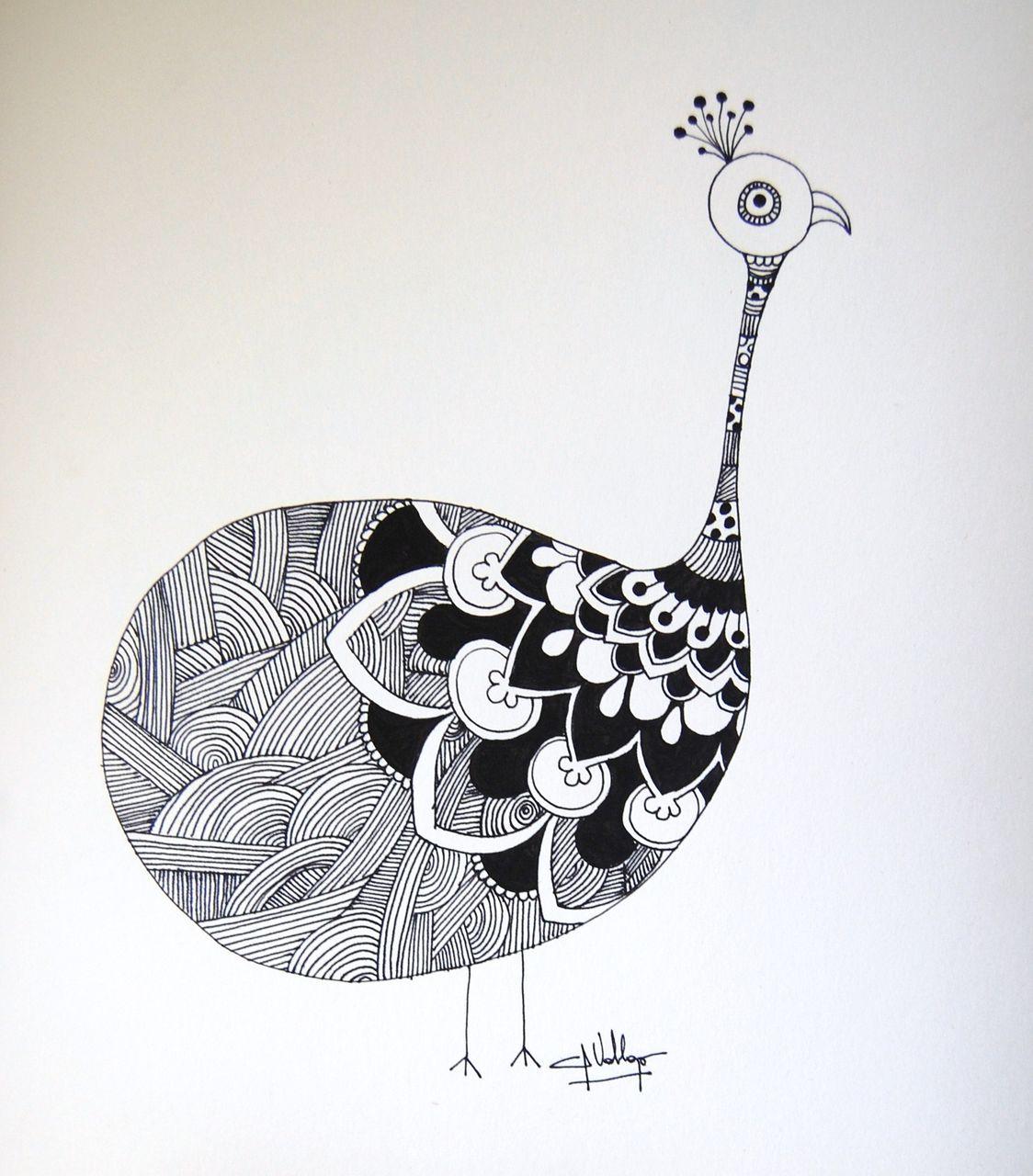 Pavo bestimmt für Mandala Vogel
