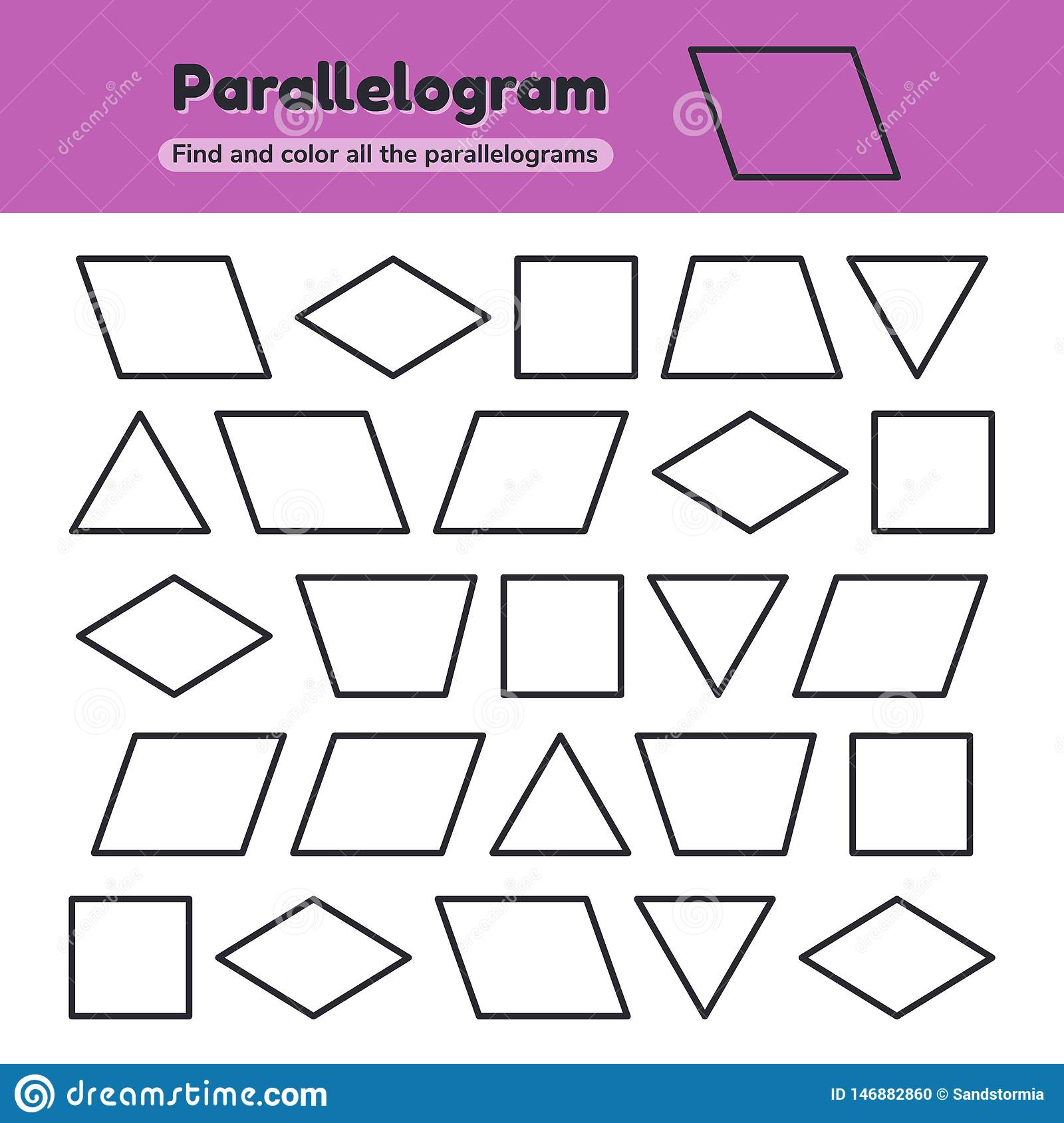 P?dagogisches Arbeitsblatt F?r Kinderkindergarten bestimmt für Geometrische Formen Im Kindergarten