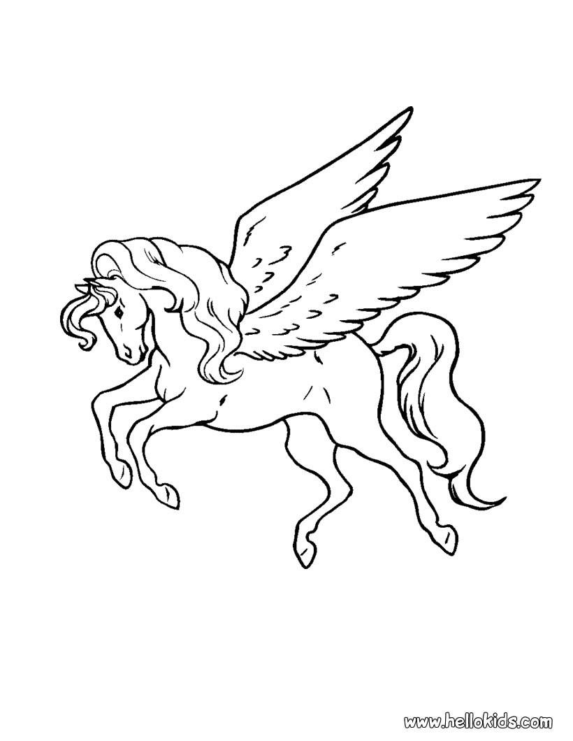 Pegasus Zum Ausmalen Zum Ausmalen - De.hellokids innen Pegasus Ausmalbilder