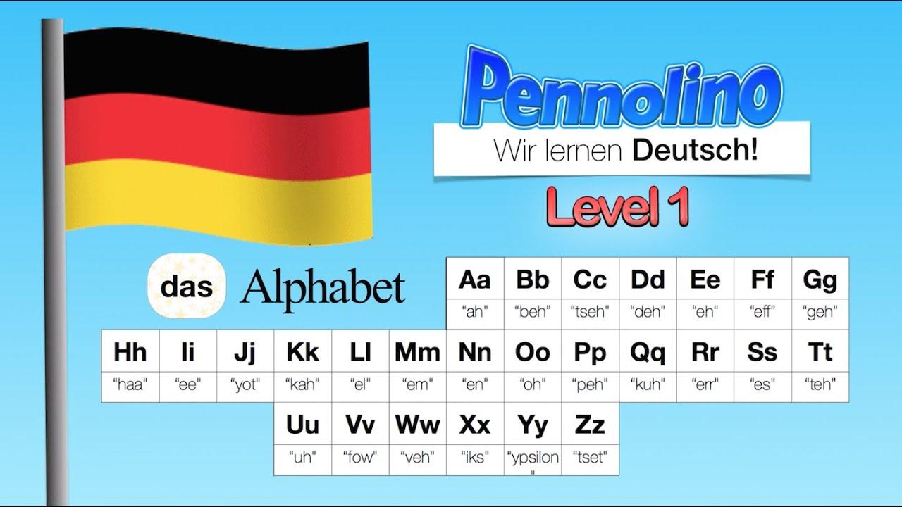 Pennolino! Deutsch Lernen. Aussprache Pronunciation - Das Alphabet - Abc  Bis Z. Learn German! in Abc Alphabet Deutsch