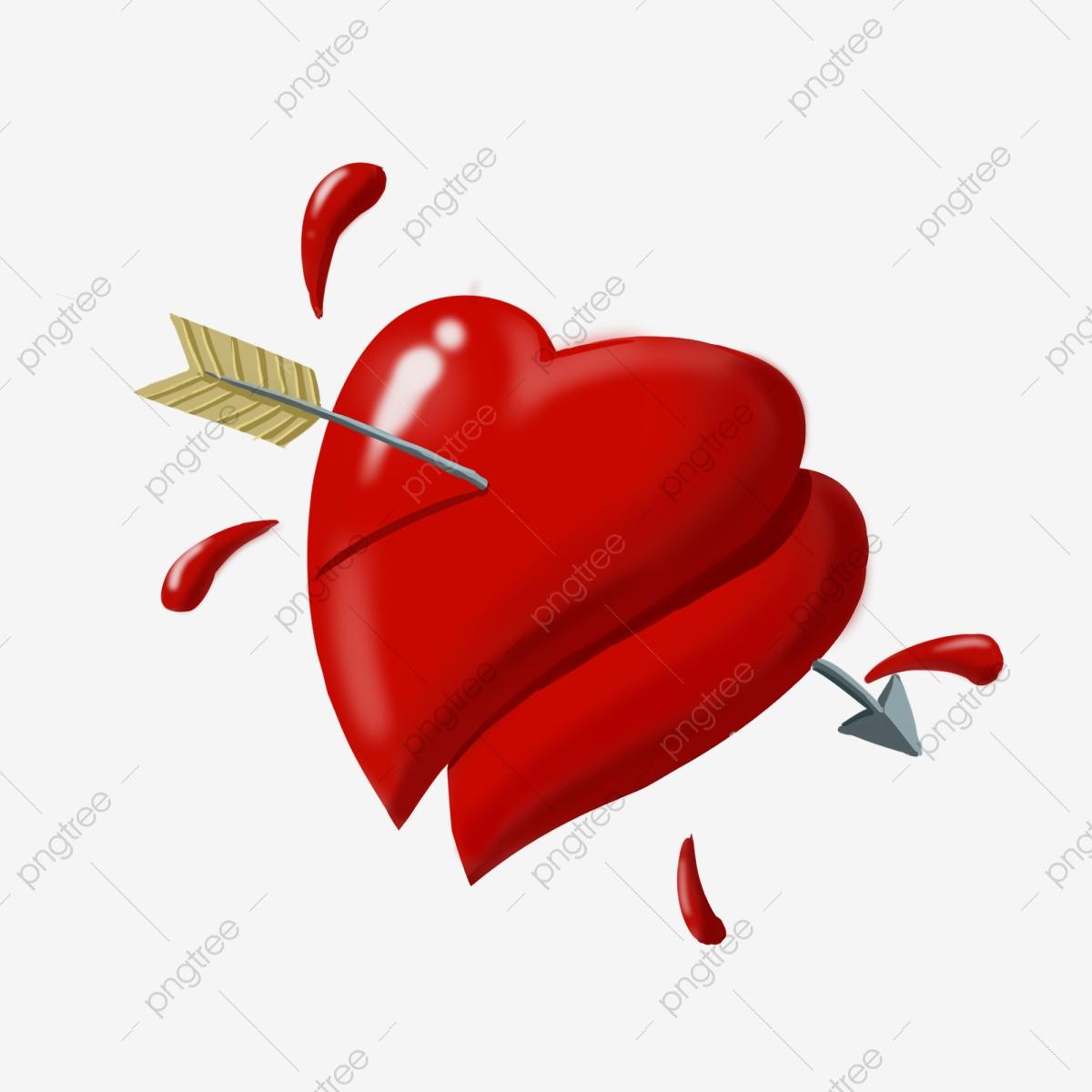 Pfeil Durch Herzillustration Alles Gute Zum Valentinstag mit Herzen Bilder Kostenlos