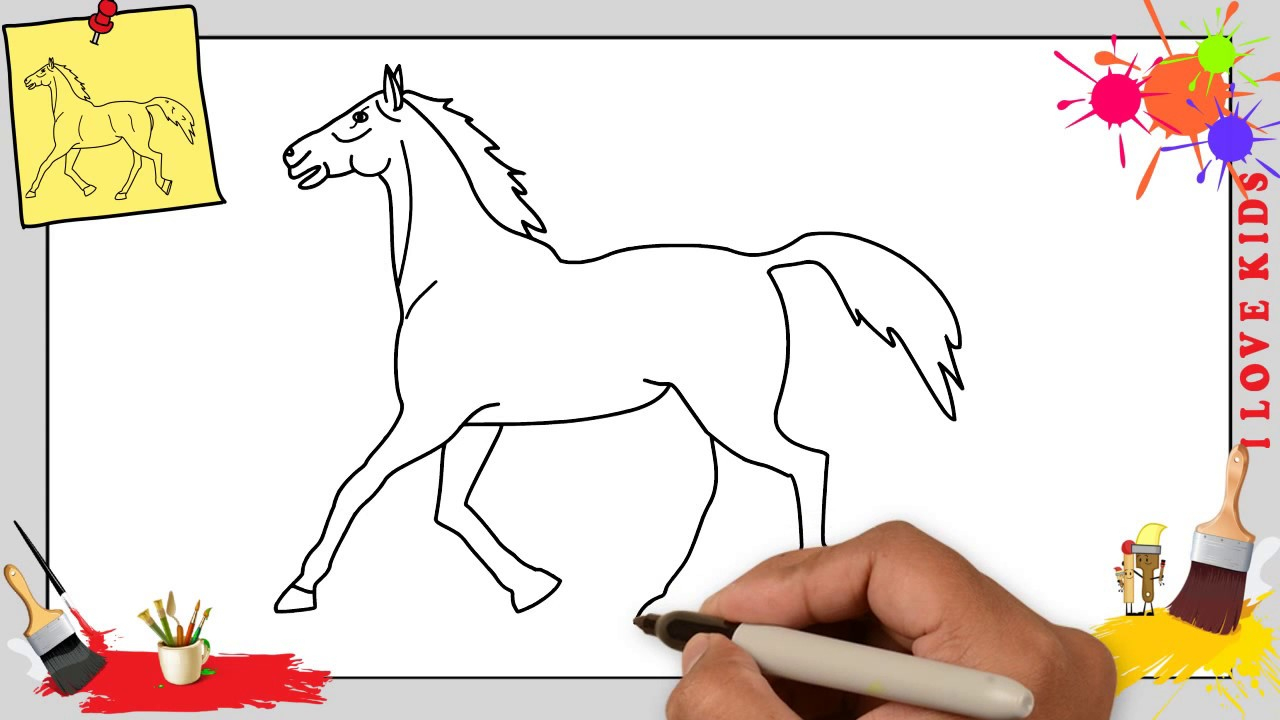 Pferd Zeichnen 4 Schritt Für Schritt Für Anfänger & Kinder - Zeichnen Lernen verwandt mit Pferde Zeichnen Lernen