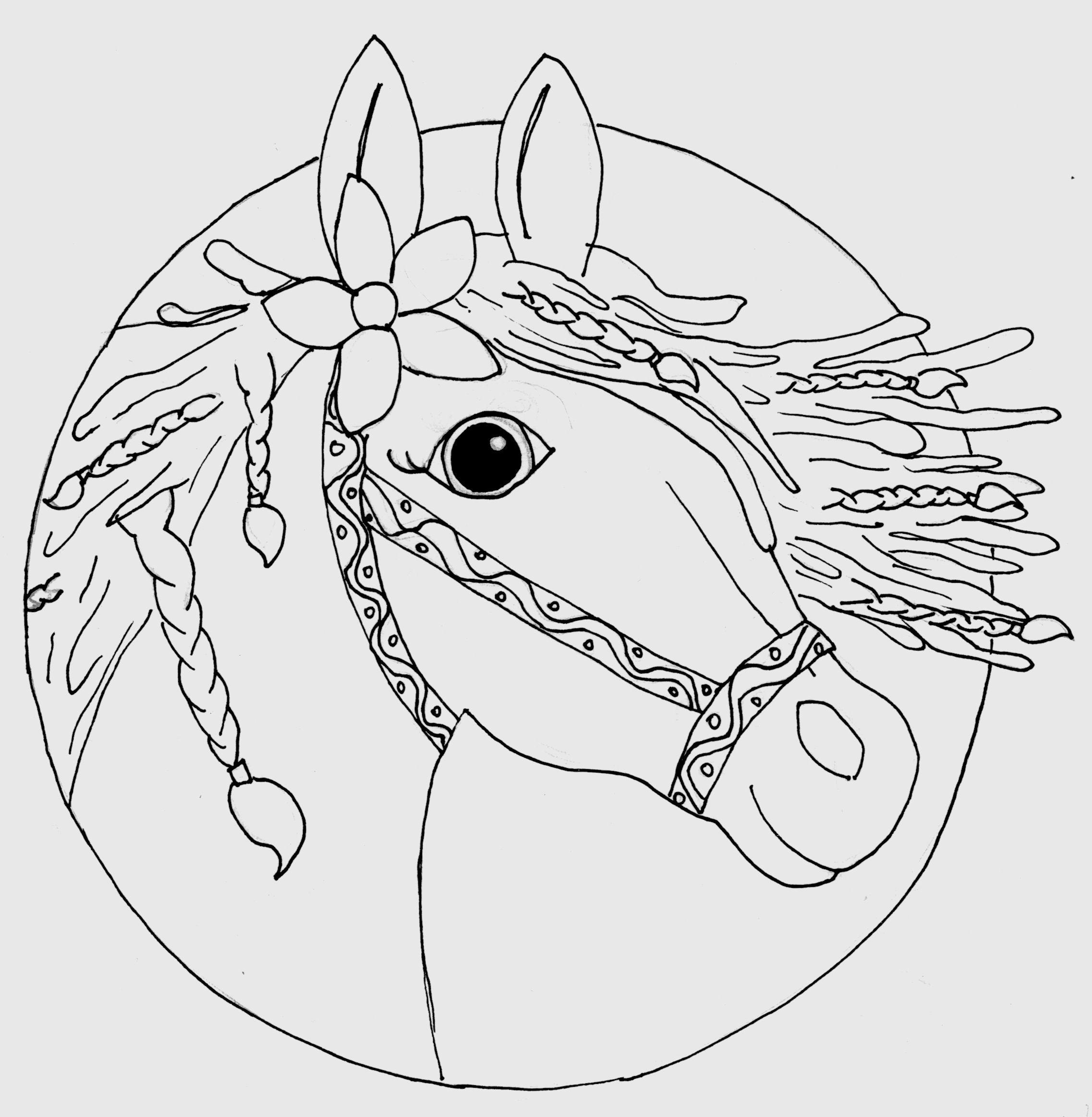 Pferdekopf Ausmalbild Gezeichnet Von Louisa (8 verwandt mit Malvorlage Pferdekopf
