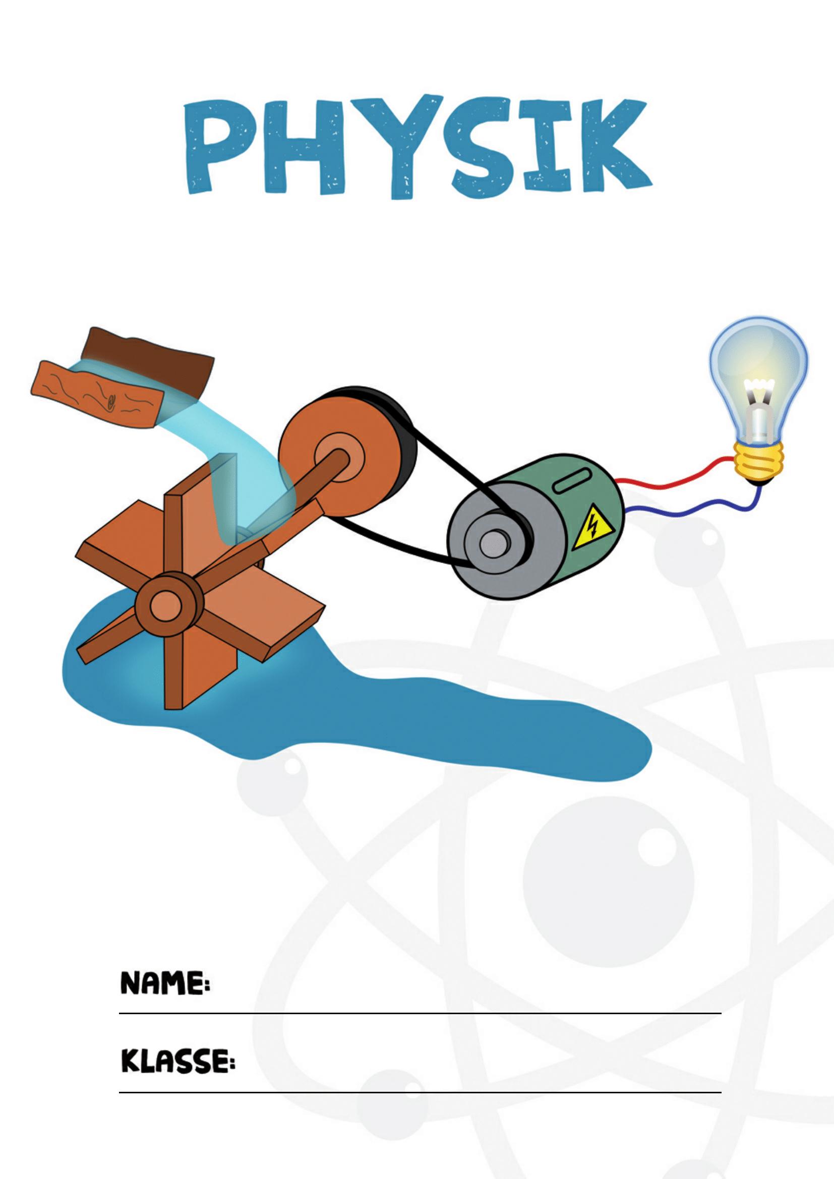 Physik Deckblatt   Physik Deckblatt, Physik, Deckblatt Schule für Deckblätter Schule Kostenlos Ausdrucken