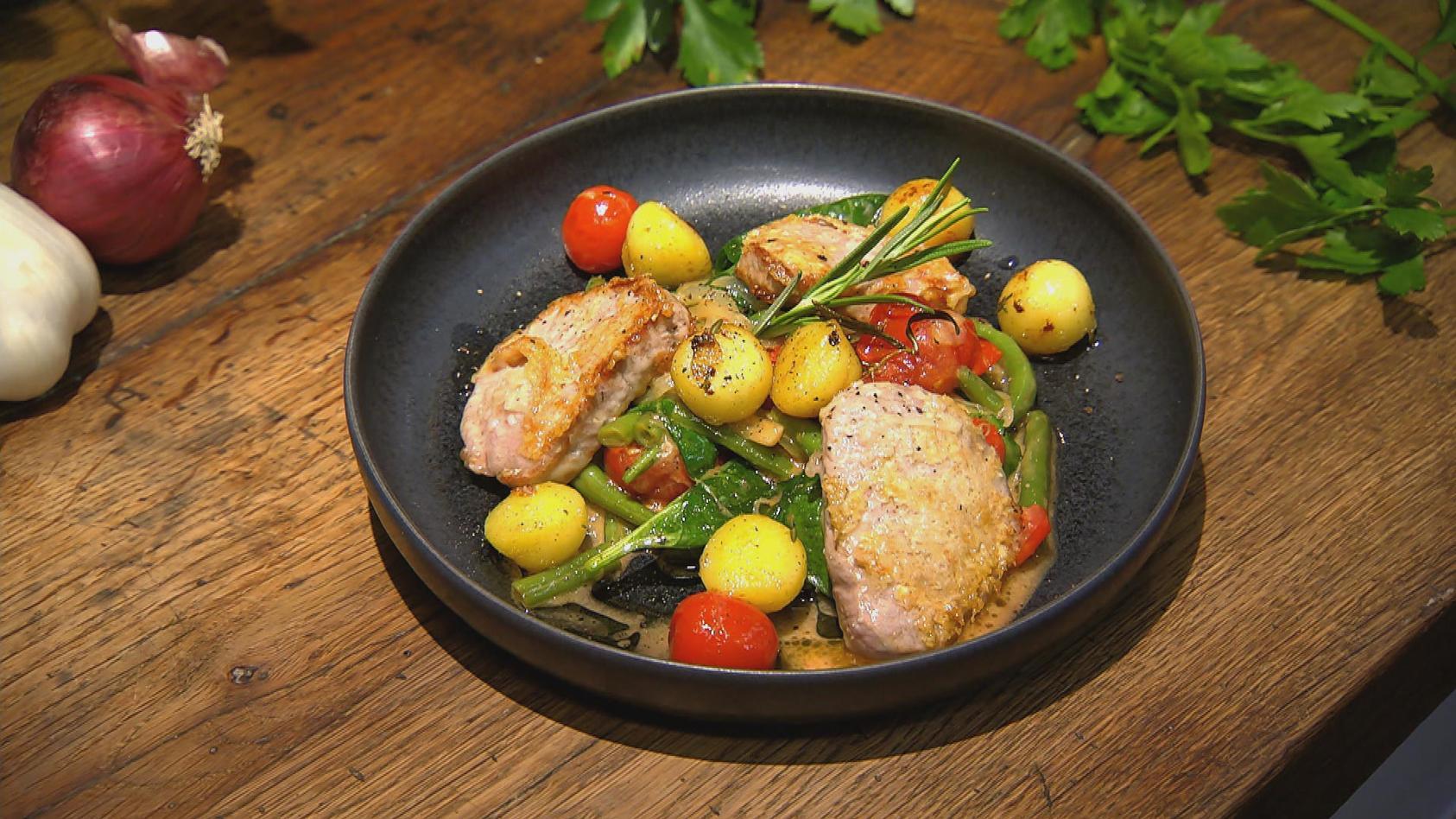 Piccata Mit Bratkartoffeln Und Gemüse – Das Rezept Aus bei Essen Und Trinken Gemüse