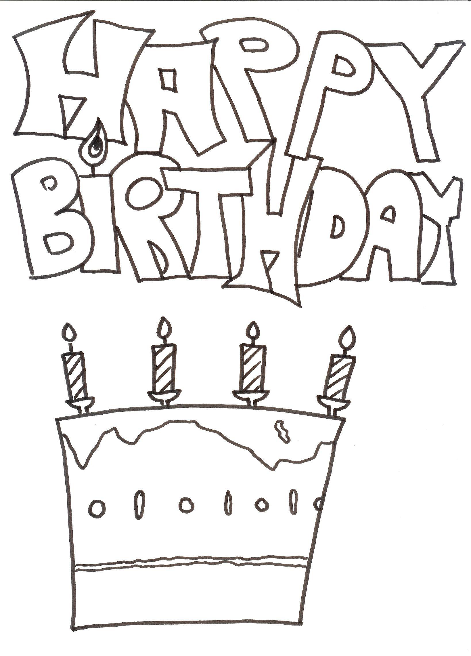 Pin Auf Ausmalbilder ganzes Geburtstag Ausmalbilder