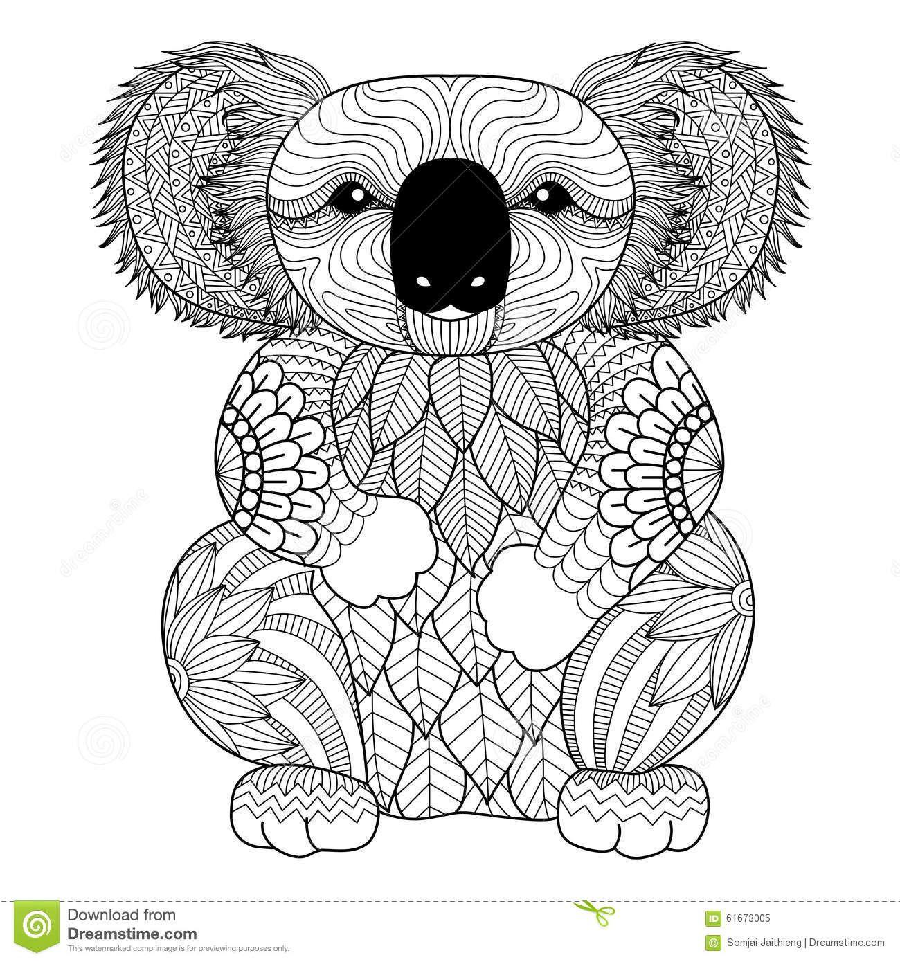 Pin Auf Ausmalbilder in Koala Ausmalbild