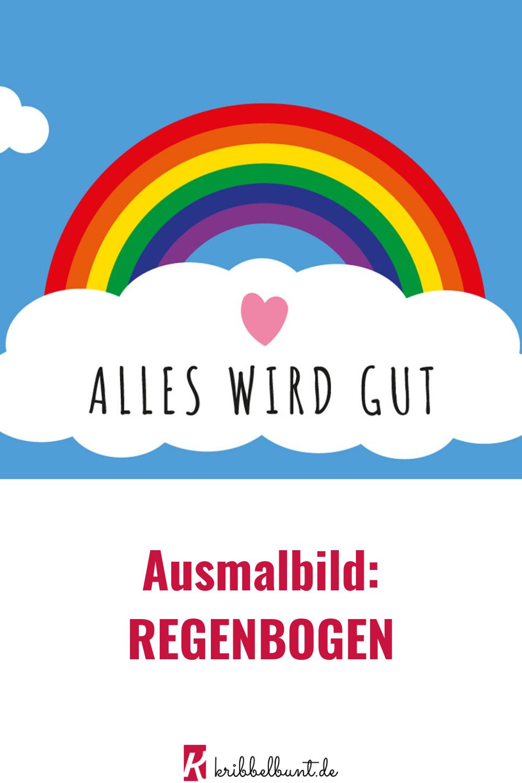 Pin Auf Basteln Mit Kindern Im Frühling mit Bastelvorlage Regenbogen