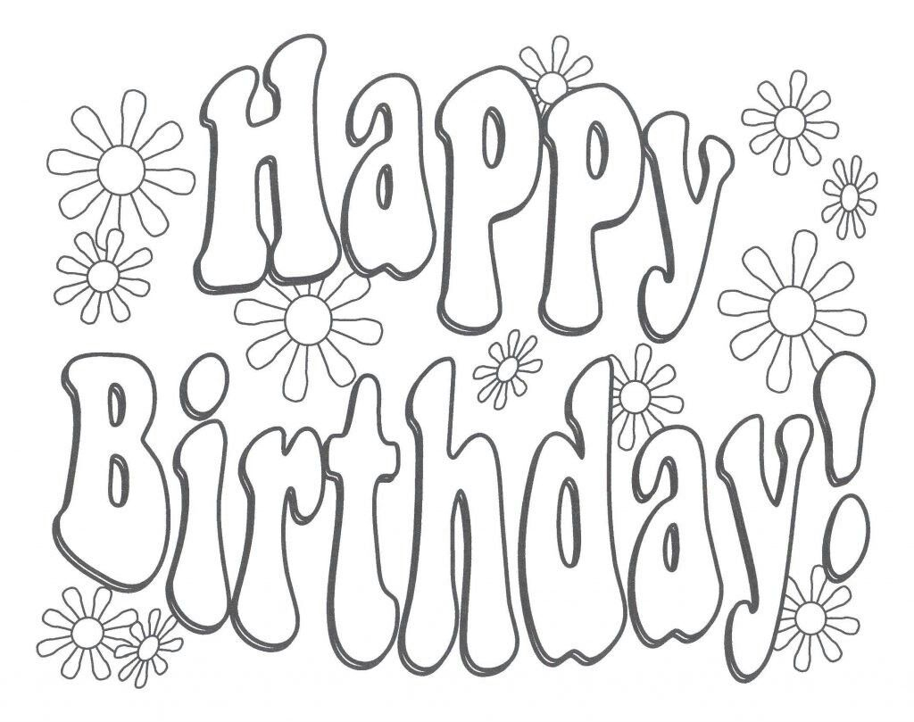 Pin Auf Bücher Falten ganzes Happy Birthday Schriftzug Zum Ausmalen