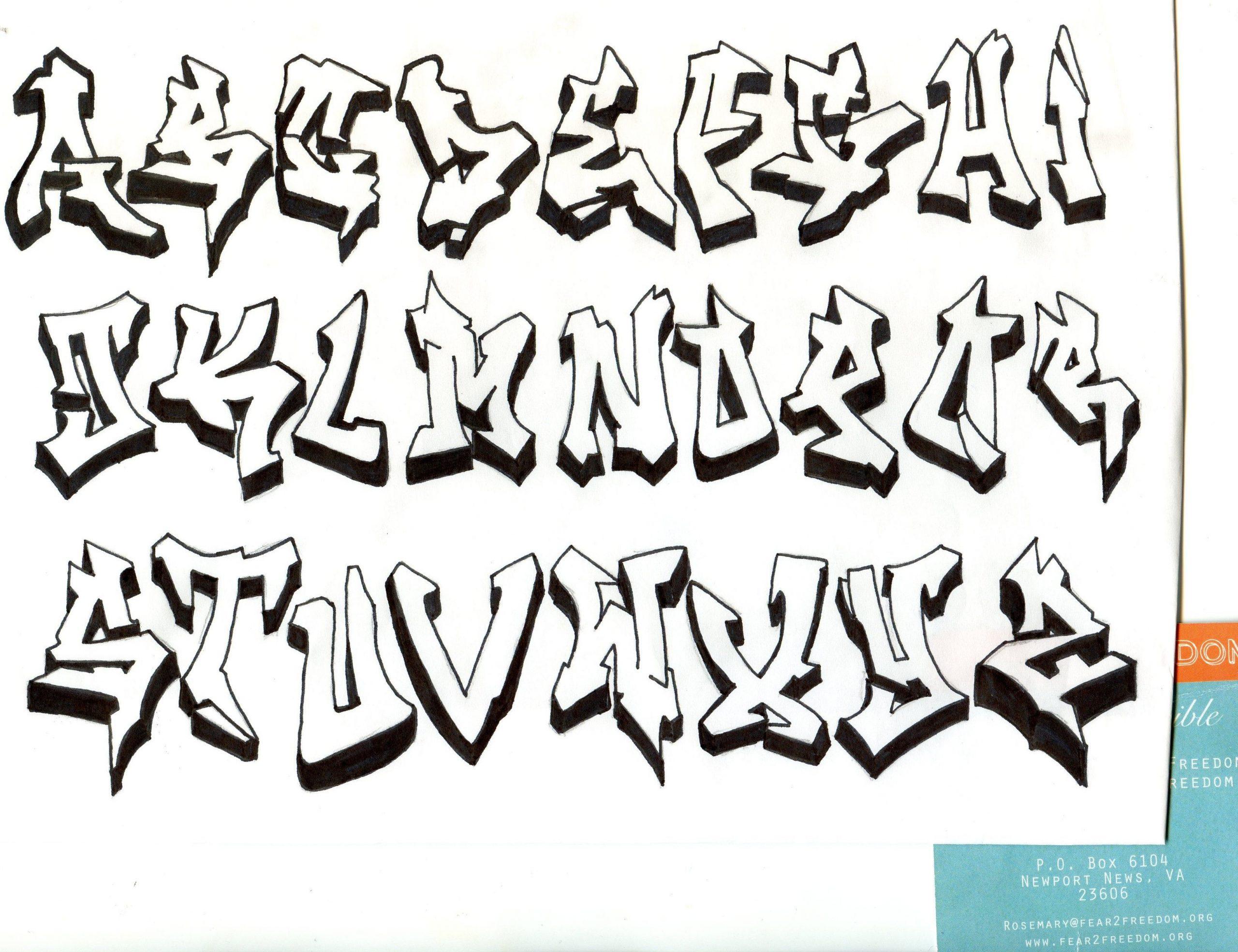 Pin Auf Buchstaben bei Graffiti Buchstaben Vorlagen A-Z