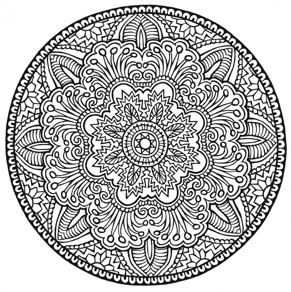 Pin Auf Coloring für Mandala Zum Ausdrucken Für Erwachsene