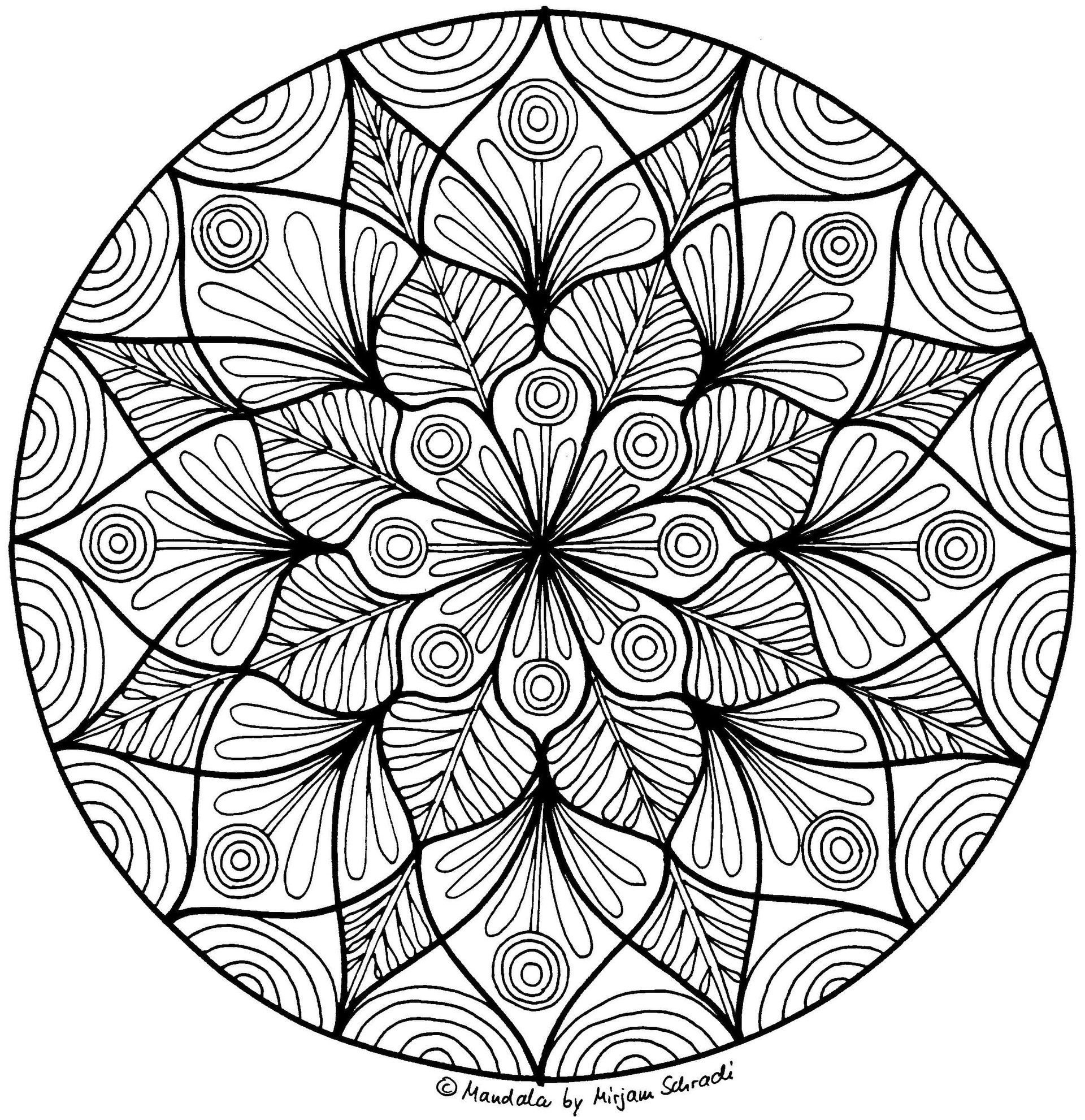 Pin Auf Colouring Pages innen Schwierige Mandalas Zum Ausmalen Für Erwachsene