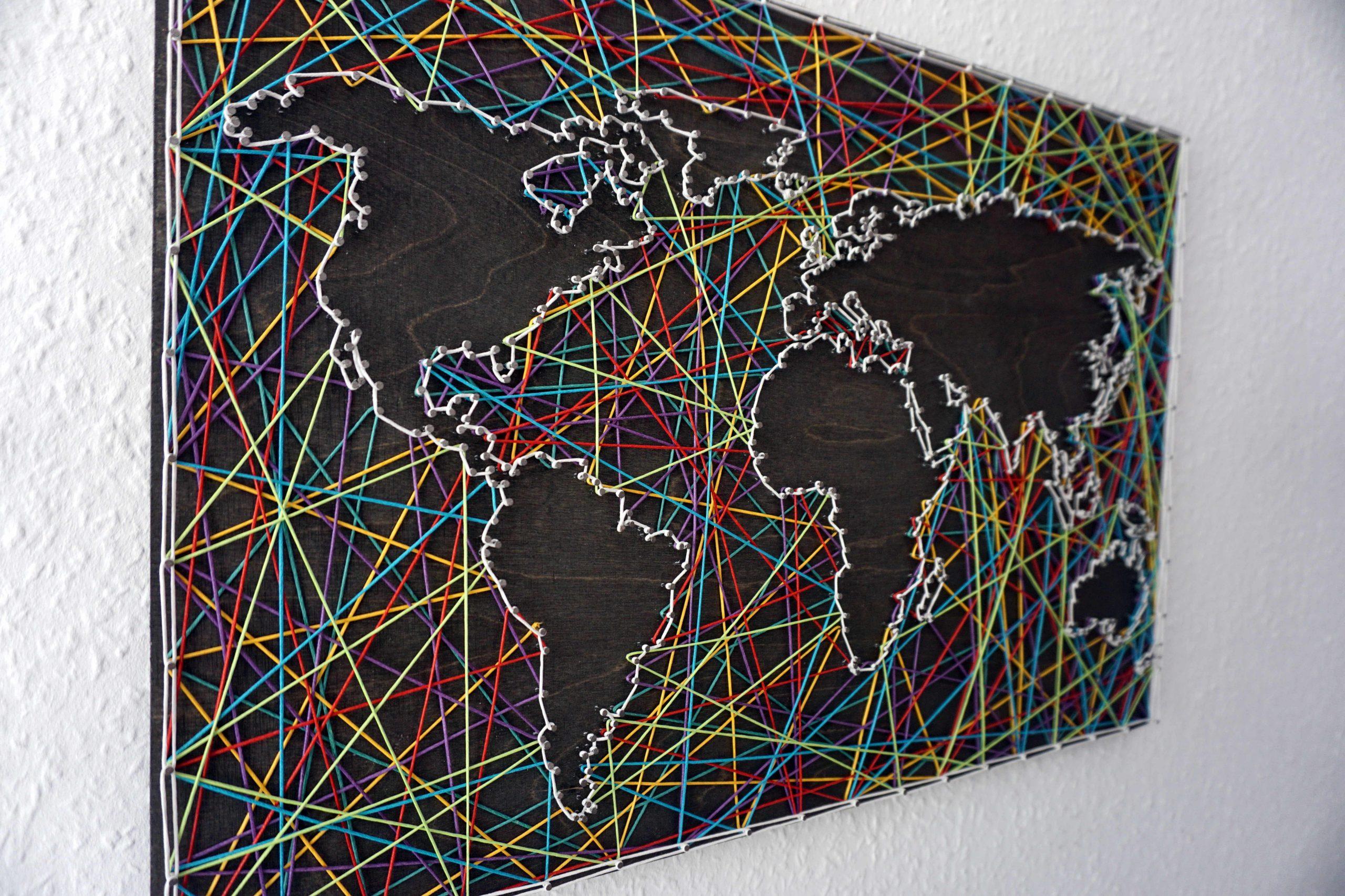 Pin Auf Crafts mit Weltkarte Selber Machen