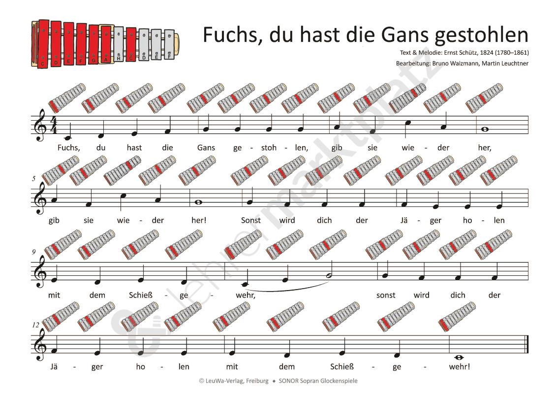 Pin Auf Lieder Und Theaterstücke Grundschule mit Fuchs Du Hast Die Gans Gestohlen Noten