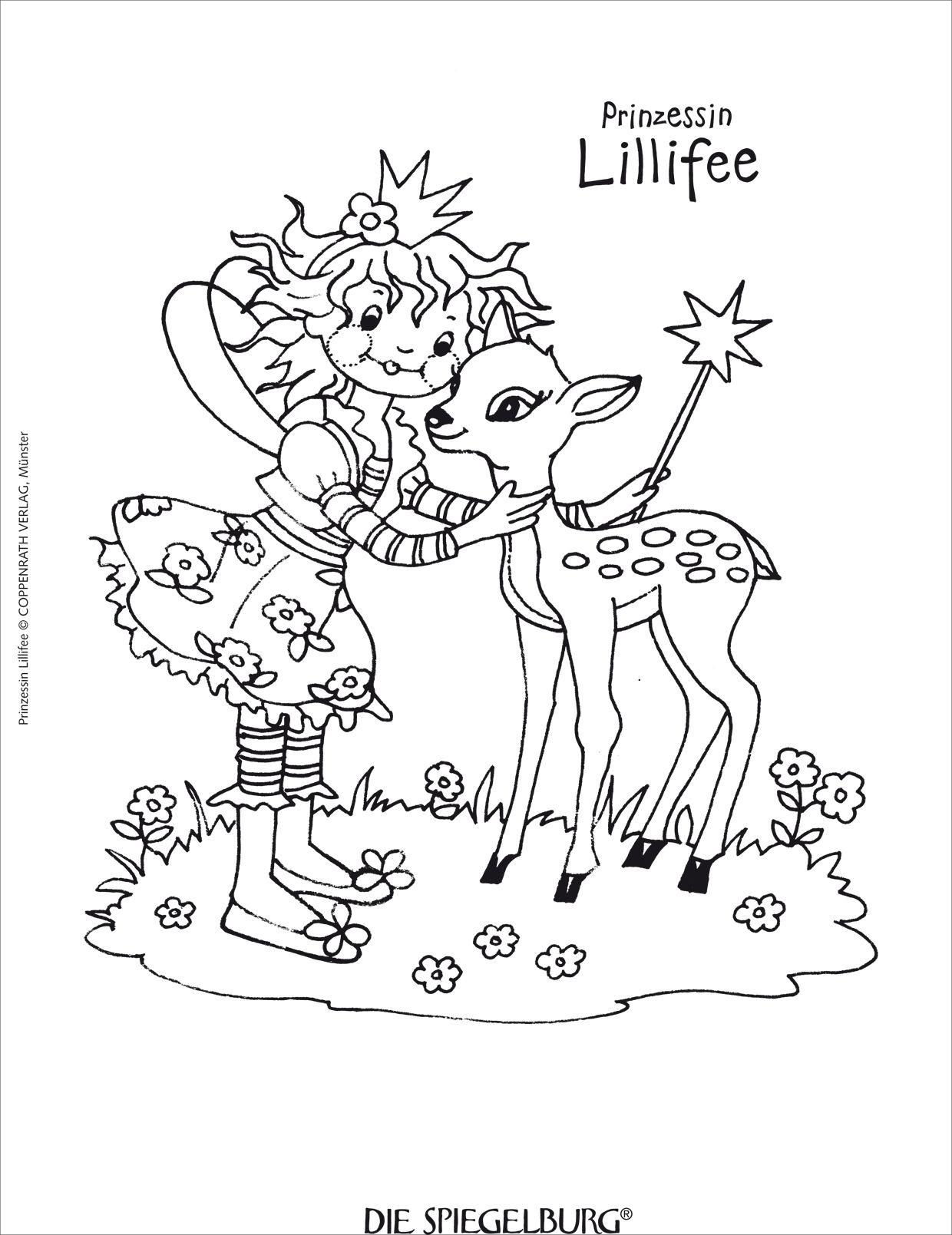 Pin Auf Lillifee Ausmalbild in Gratis Malvorlagen Prinzessin Lillifee