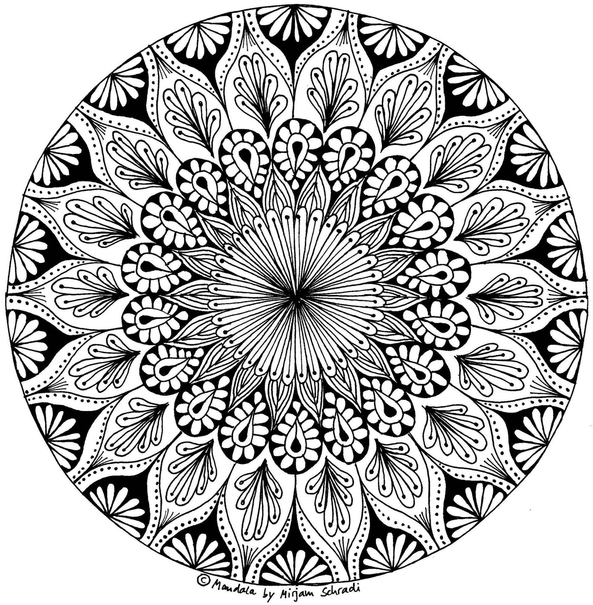 Pin Auf Malen verwandt mit Mandalas Für Erwachsene Zum Ausmalen