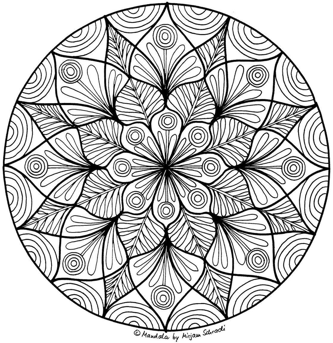 Pin Auf Mandalas Zum Ausdrucken Für Kinder + Erwachsene innen Mandala Ausmalbilder