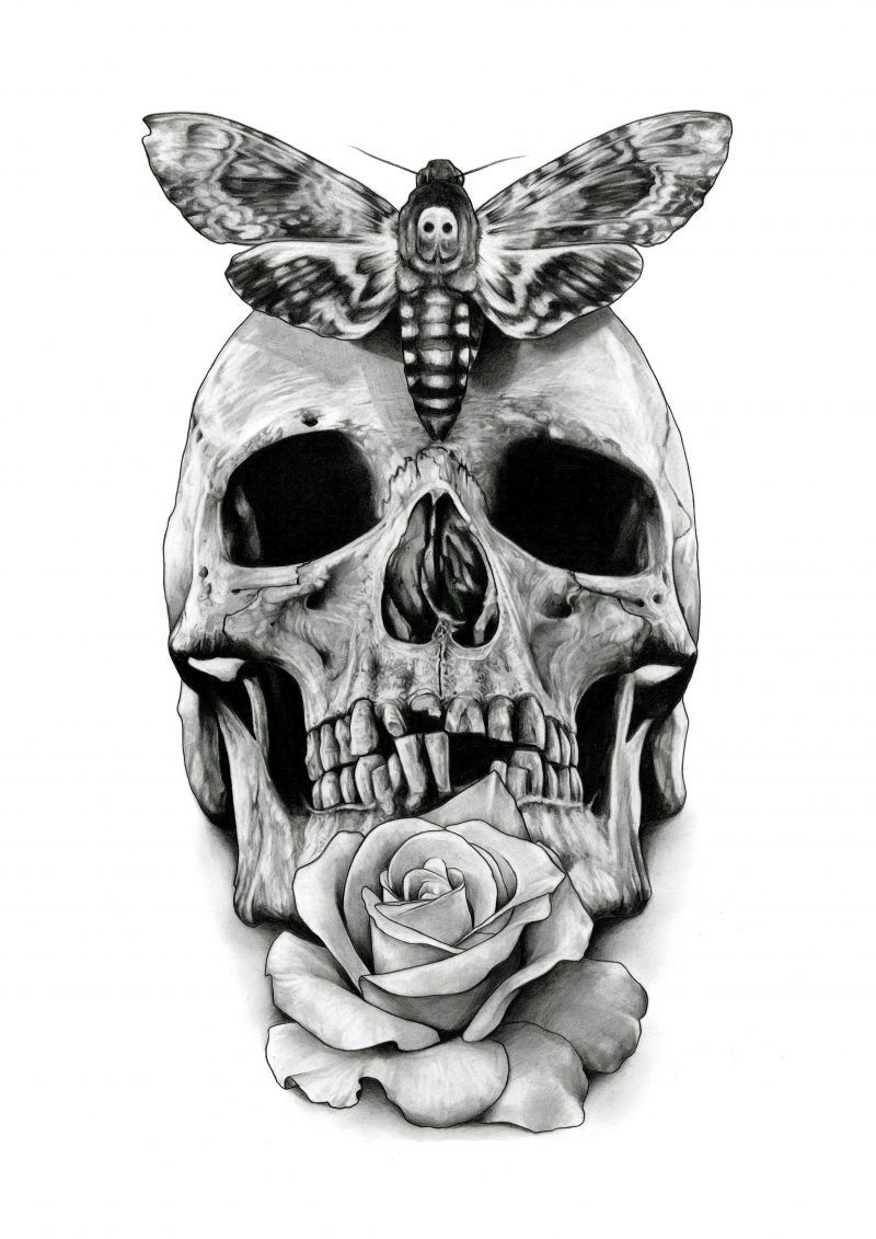 Pin Auf Tattoo mit Totenkopf Vorlage