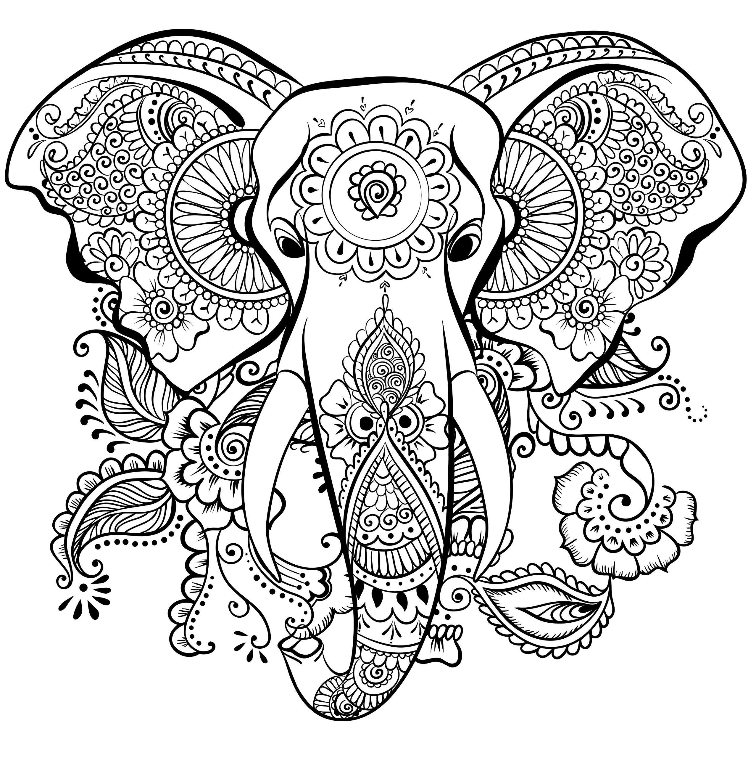Pin Auf Tiere ganzes Ausmalbilder Mandala