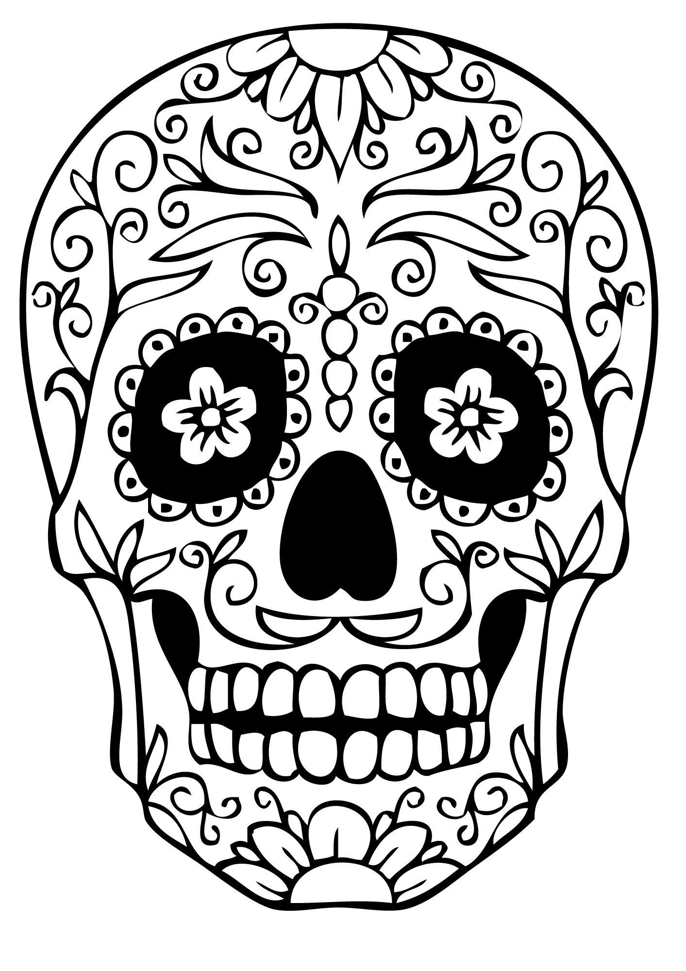 Pin Auf Totenköpfe bestimmt für Totenkopf Bilder Zum Ausmalen