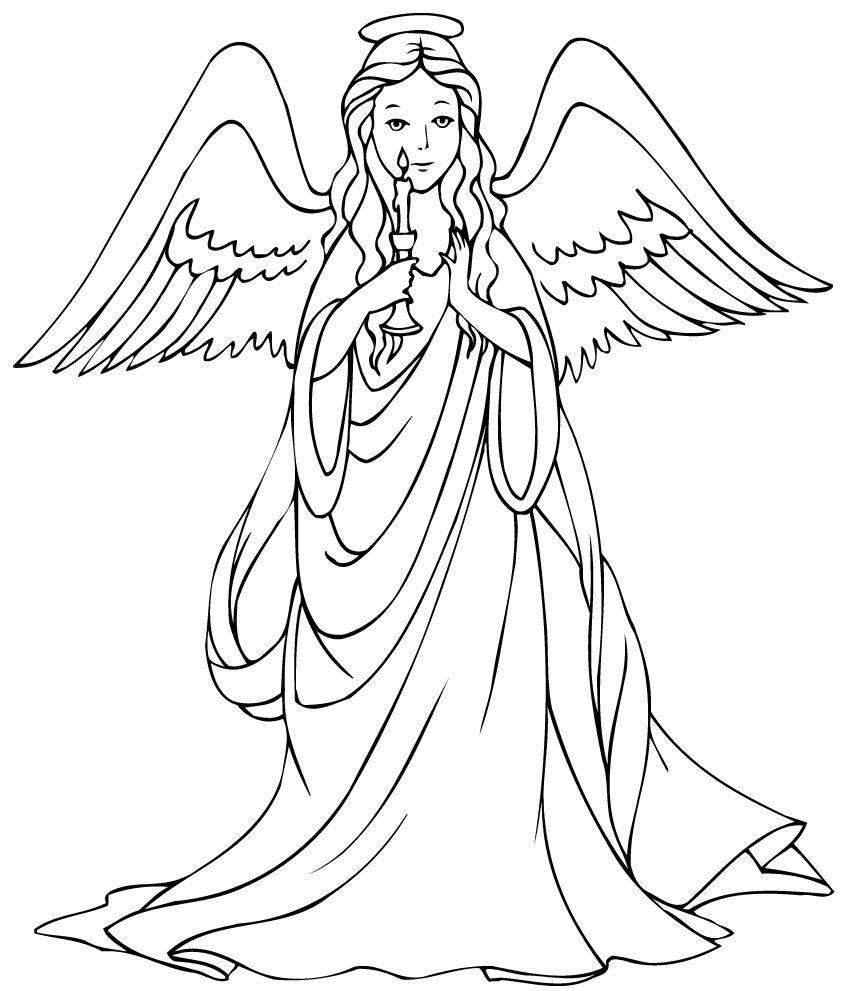 malvorlage engel umriss  kinderbilderdownload