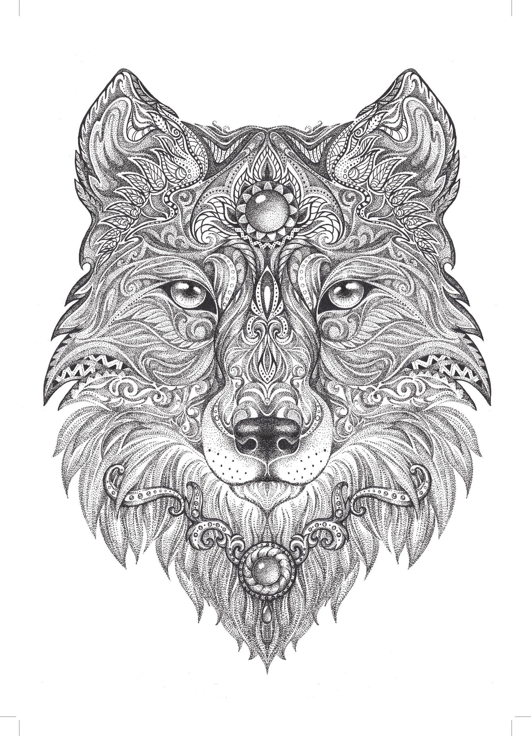 Pin Auf Wolf-Tattoos bestimmt für Mandalas Für Erwachsene Zum Ausmalen