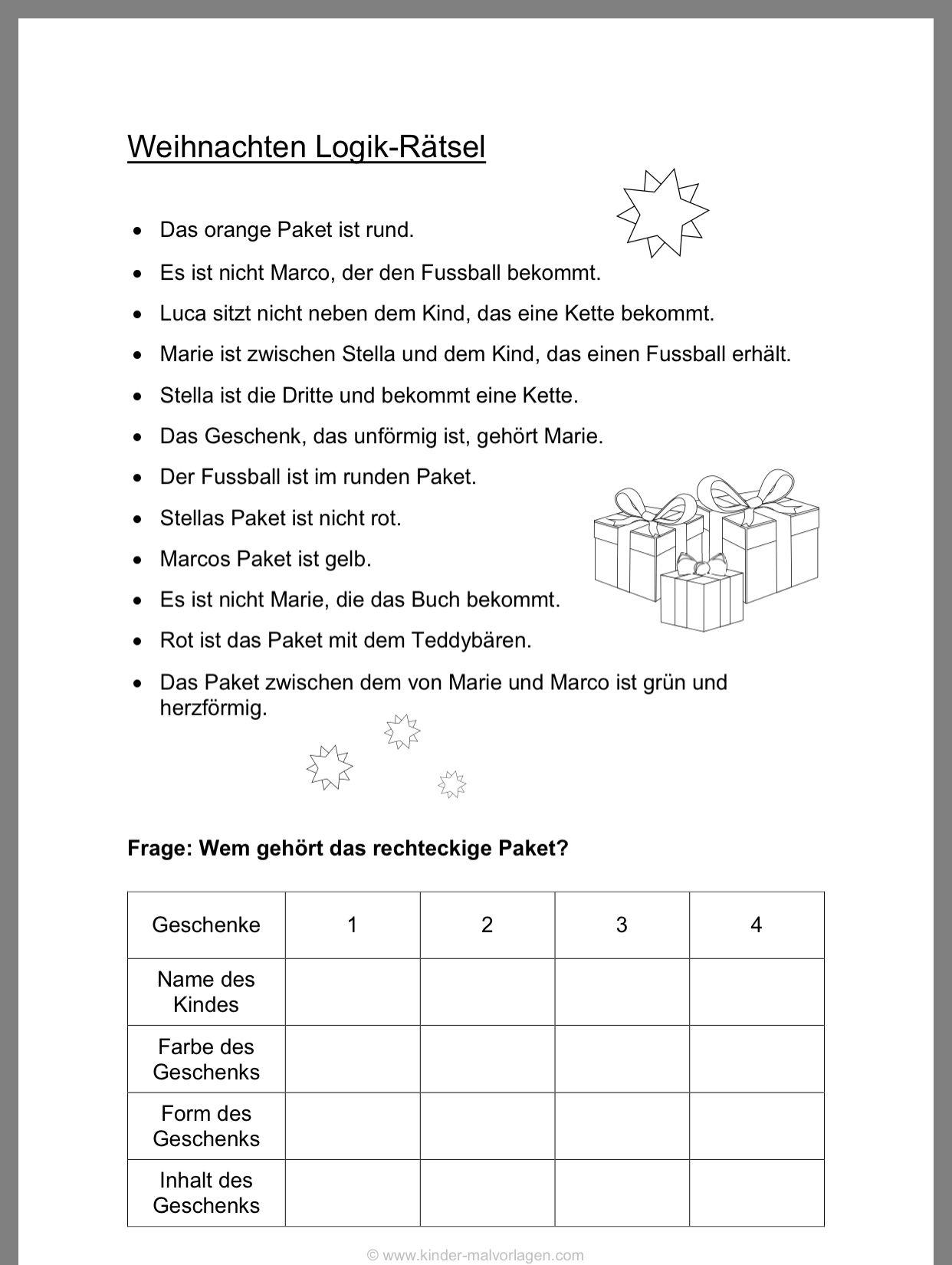 Pin Von Annette Lenz Auf Anais | Weihnachtsrätsel Für Kinder in Adventskalender Rätsel Zum Ausdrucken
