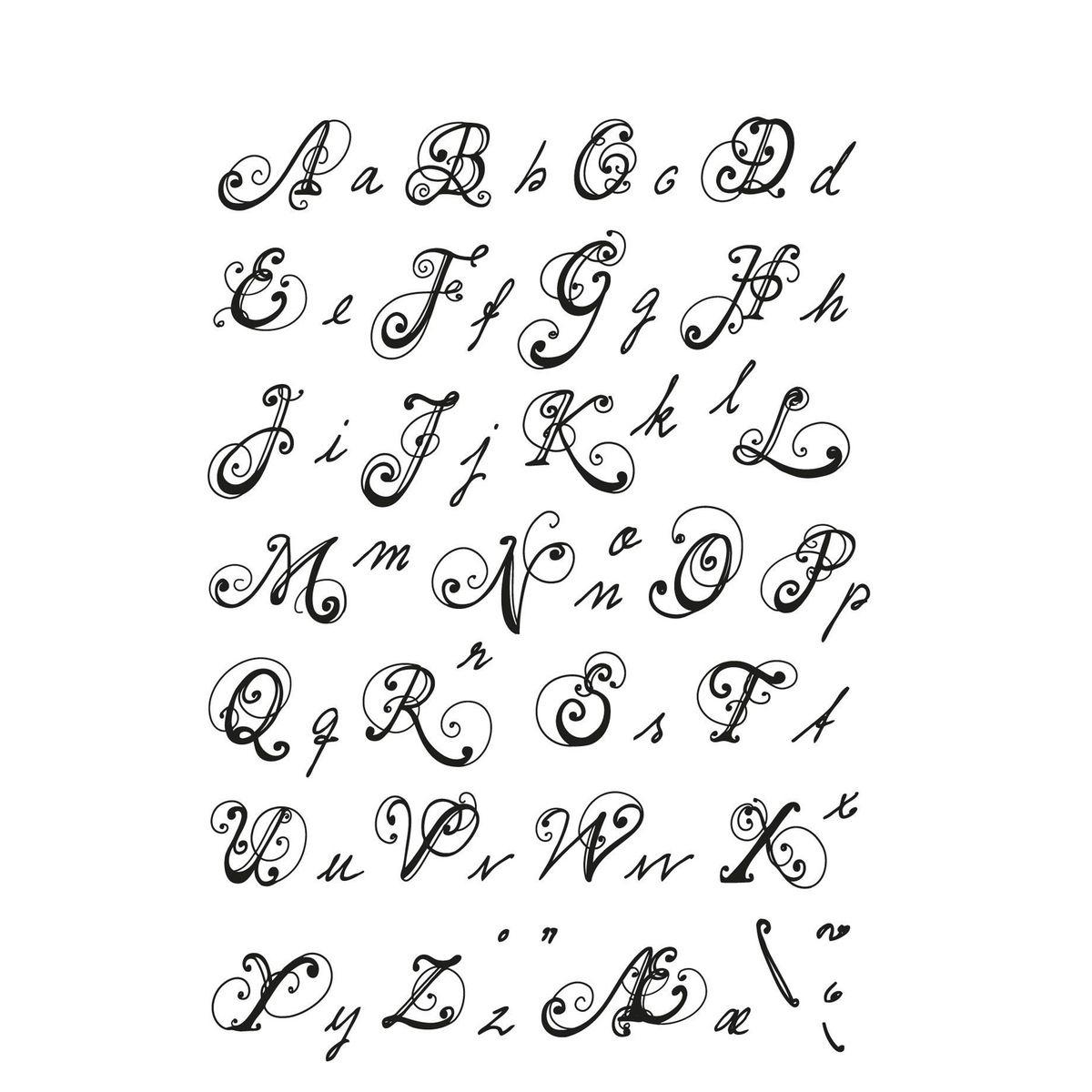 Pin Von Dawon.ci Auf ✐ Alphabet &typography (Mit Bildern ganzes Verschnörkelte Zahlen Zum Ausdrucken