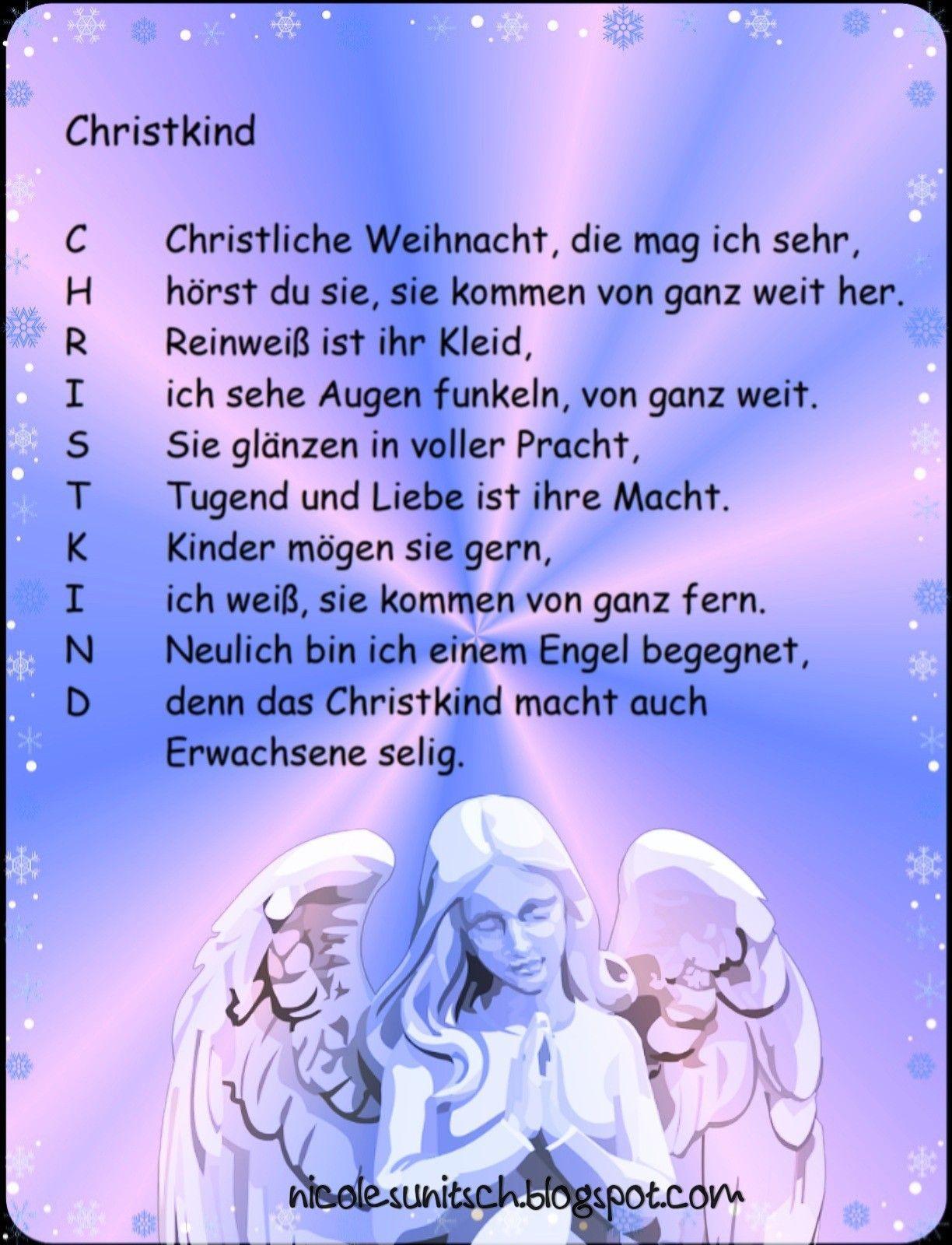 Pin Von Gedichte - Nicole Sunitsch Auf Weihnachtsgedichte für Christliche Weihnachtsgedichte Für Kinder