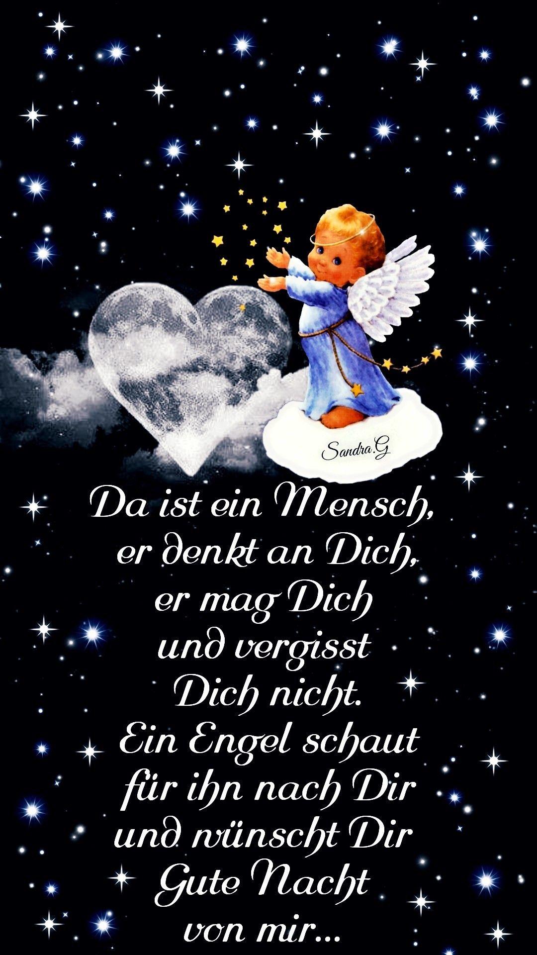 Pin Von Ginette Vagnarelli Auf Sprichwörter 2 | Gute Nacht für Bilder Engel Kostenlos